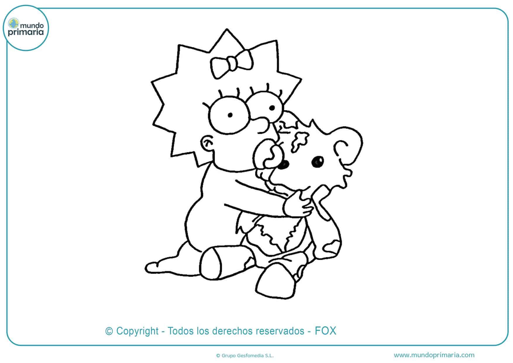 dibujos para colorear de los simpson bebes