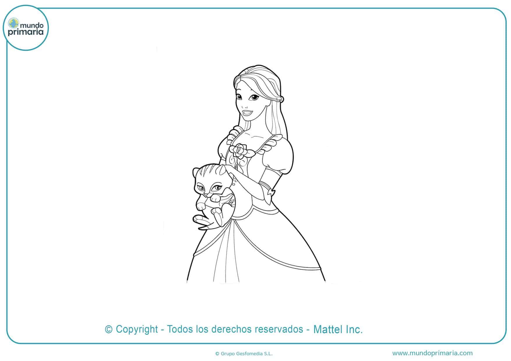 Dibujos para imprimir y colorear de barbie