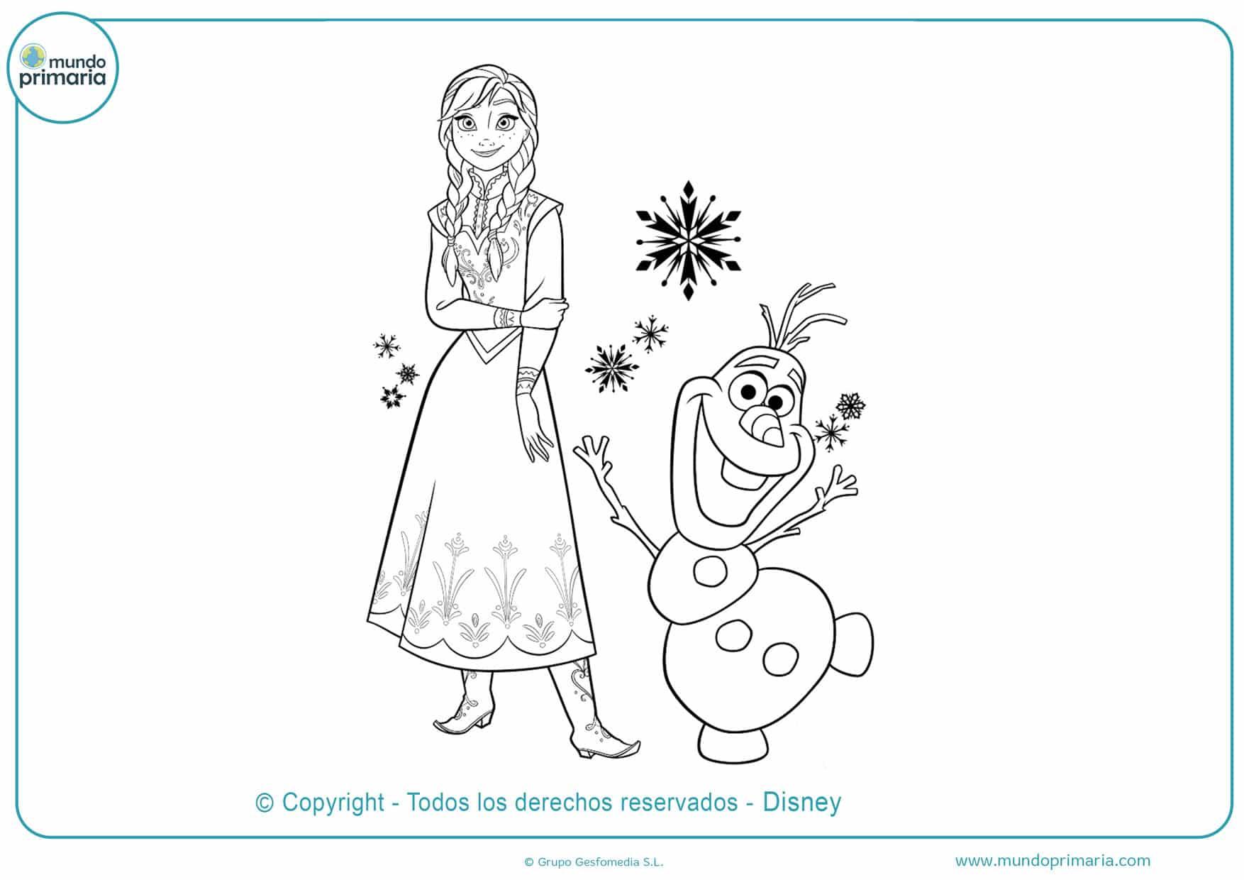 dibujos para imprimir y colorear de frozen