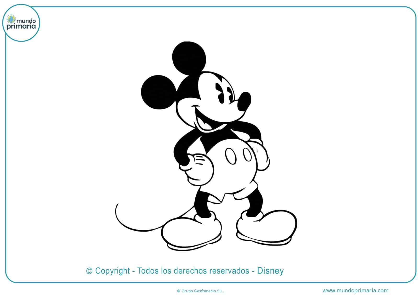 dibujos para pintar de de mickey mouse