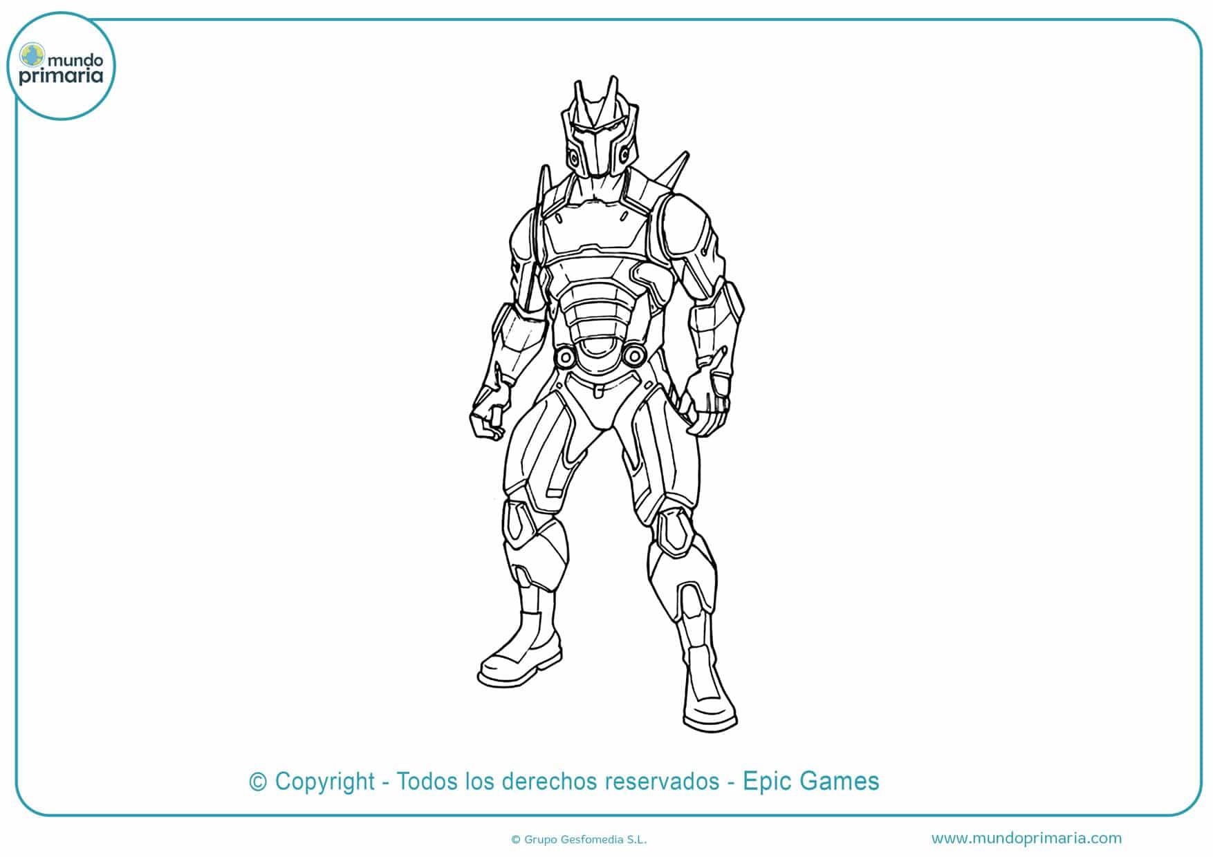 dibujos de personajes de fortnite para colorear