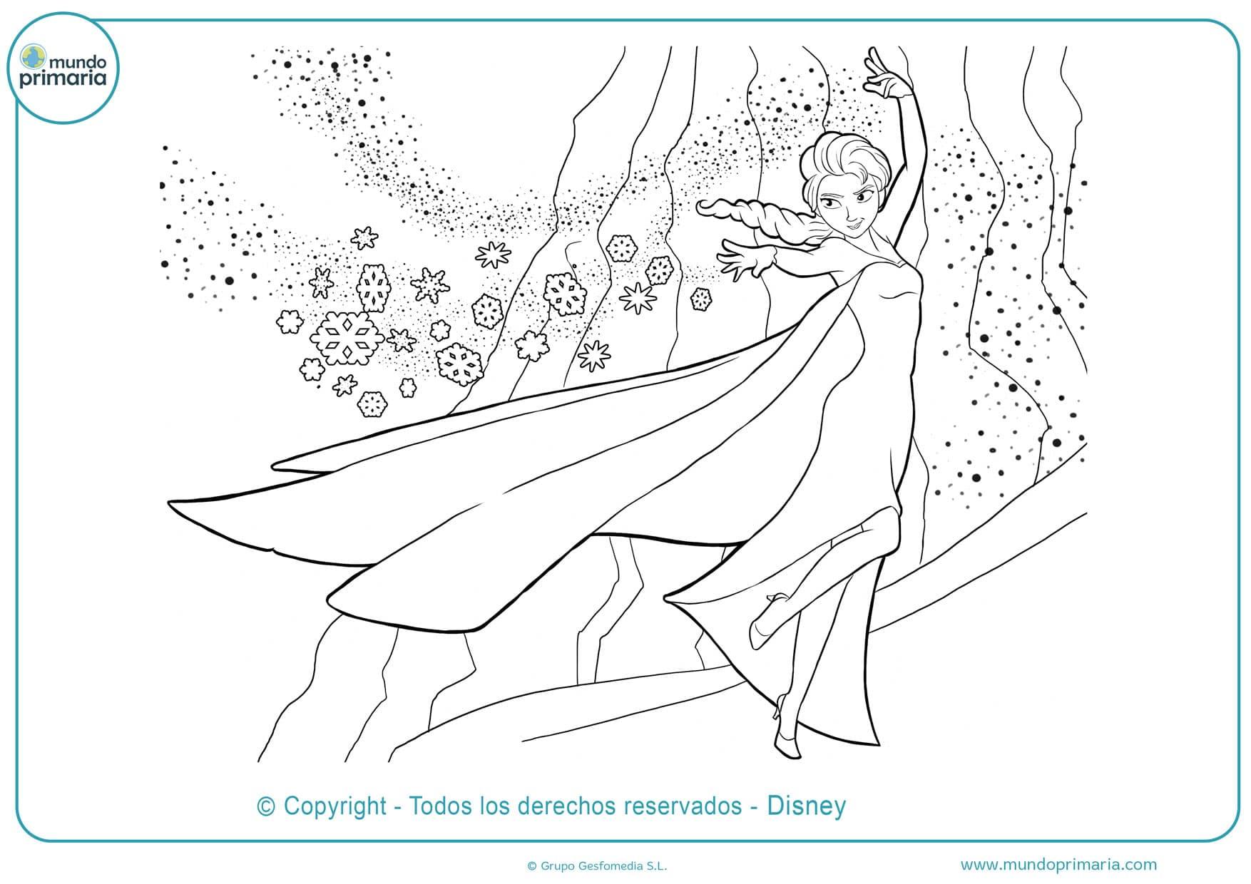 Dibujos De Frozen Para Colorear Olaf Ana Elsa