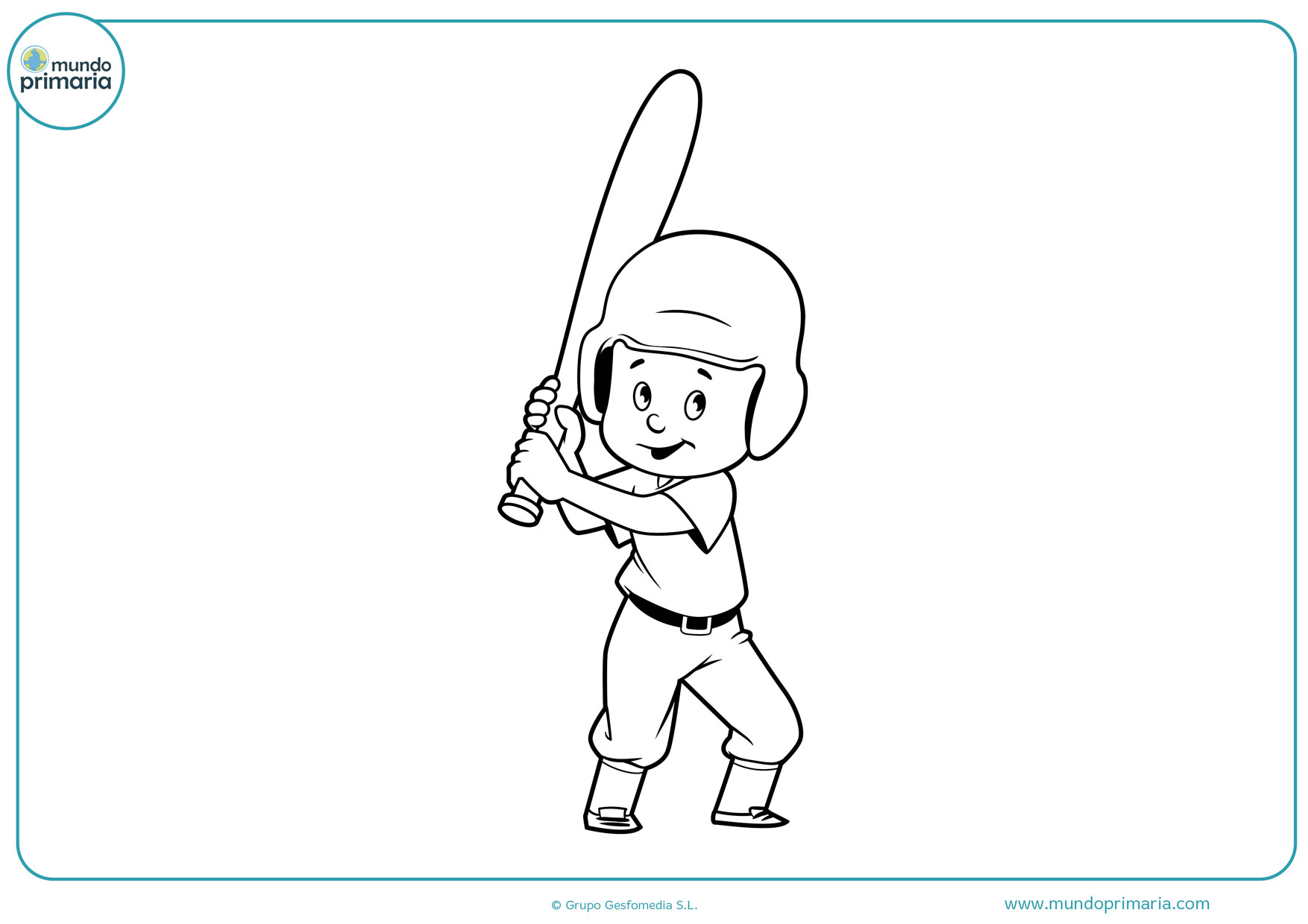 bate de béisbol dibujos para colorear