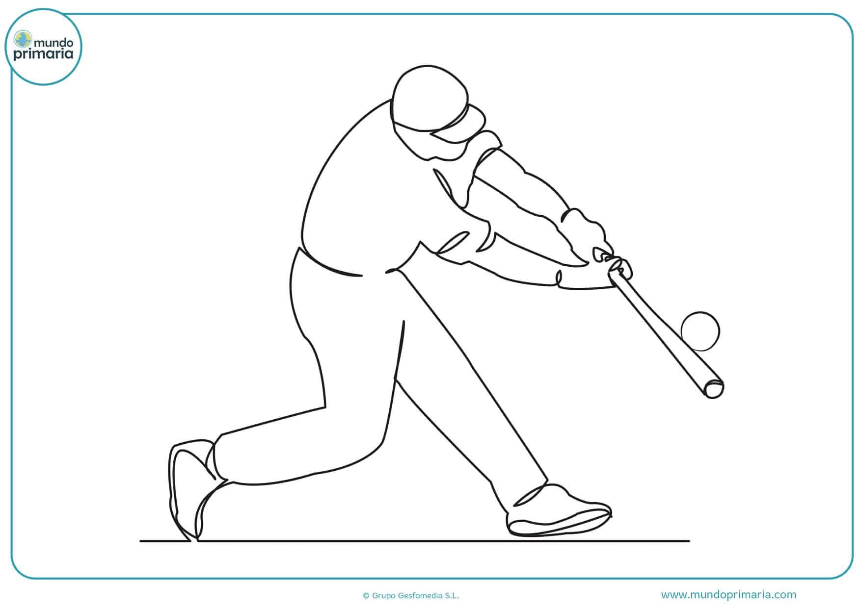 campo de béisbol dibujos para colorear
