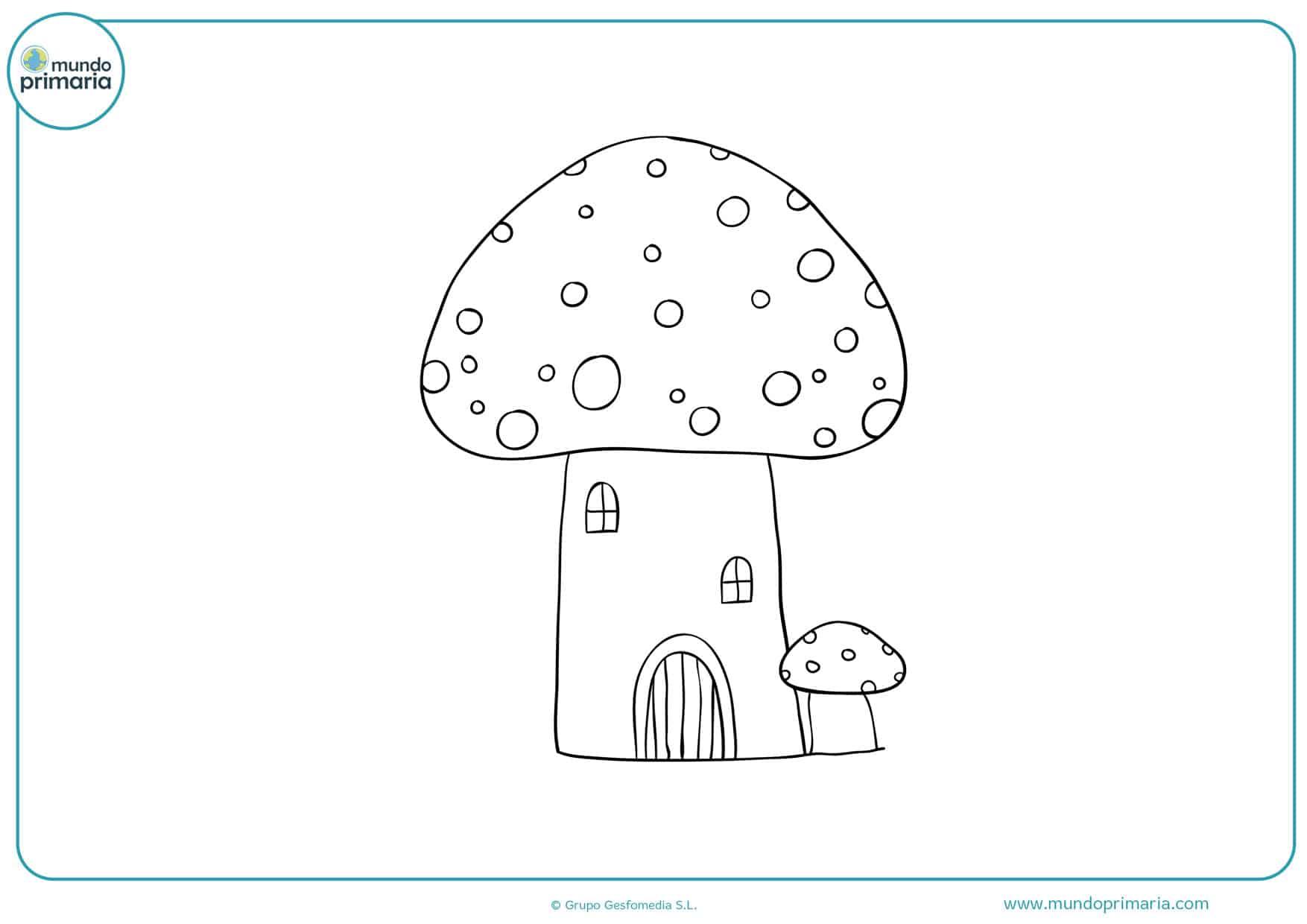 dibujo de casas de duendes para colorear