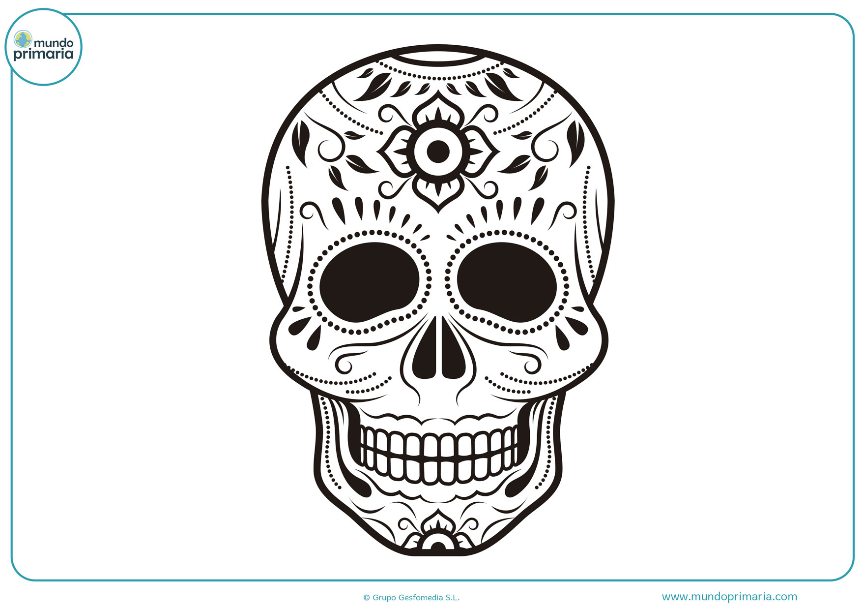dibujo día de los muertos para colorear