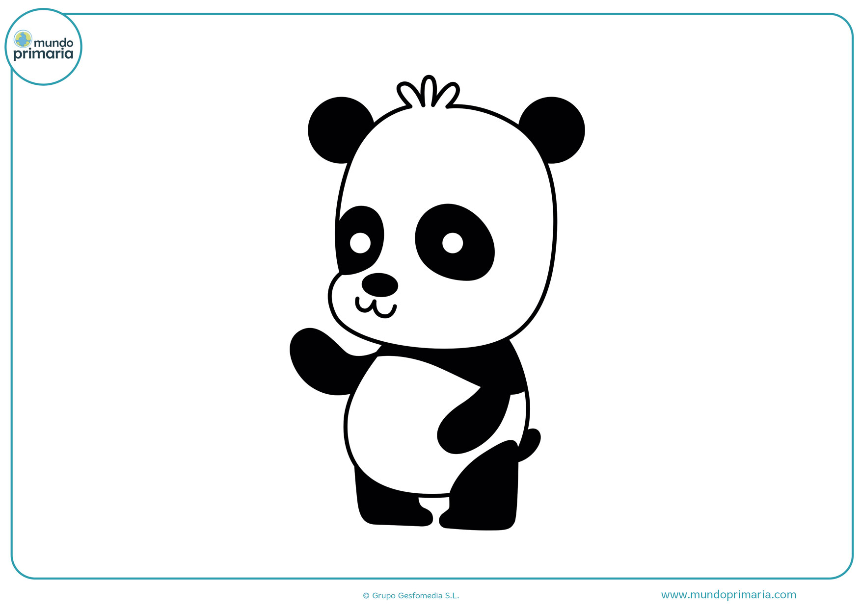 dibujo de panda pequeños para colorear
