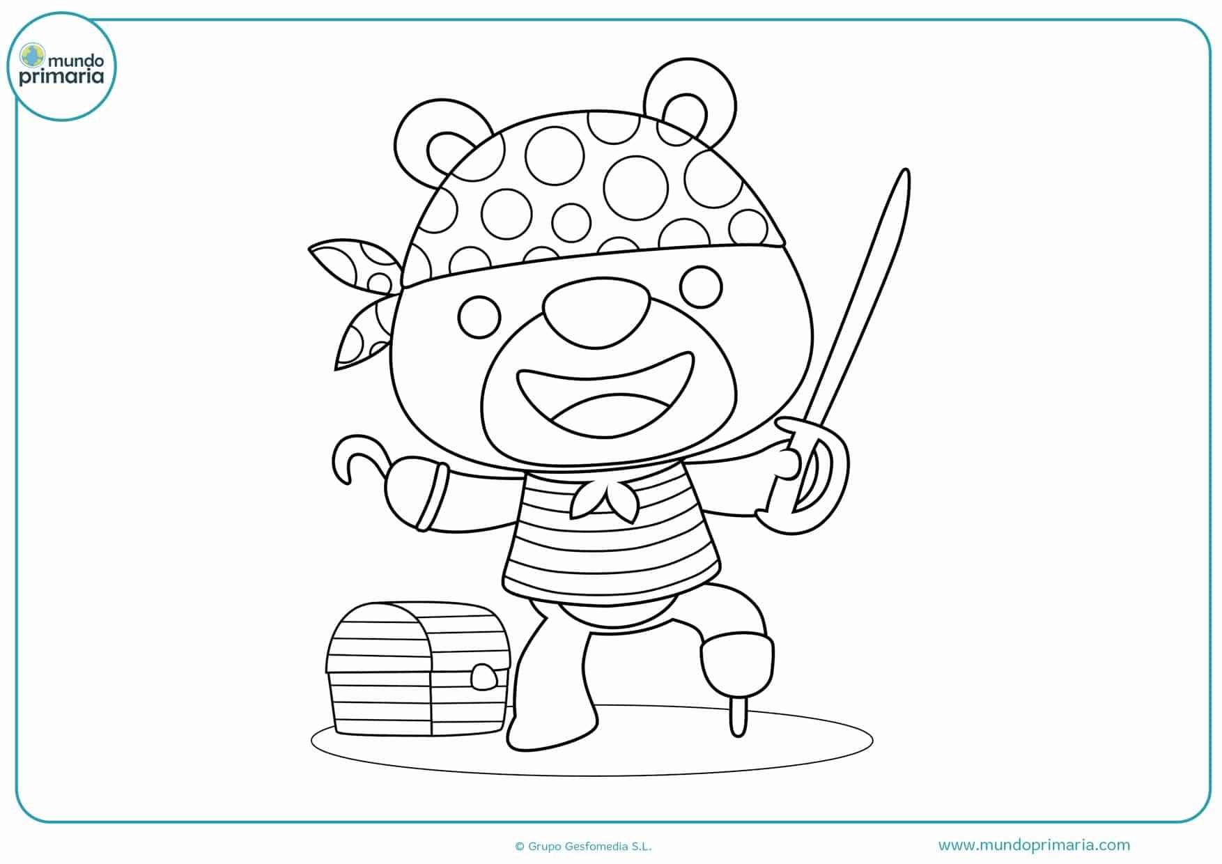 dibujos de piratas animados para imprimir