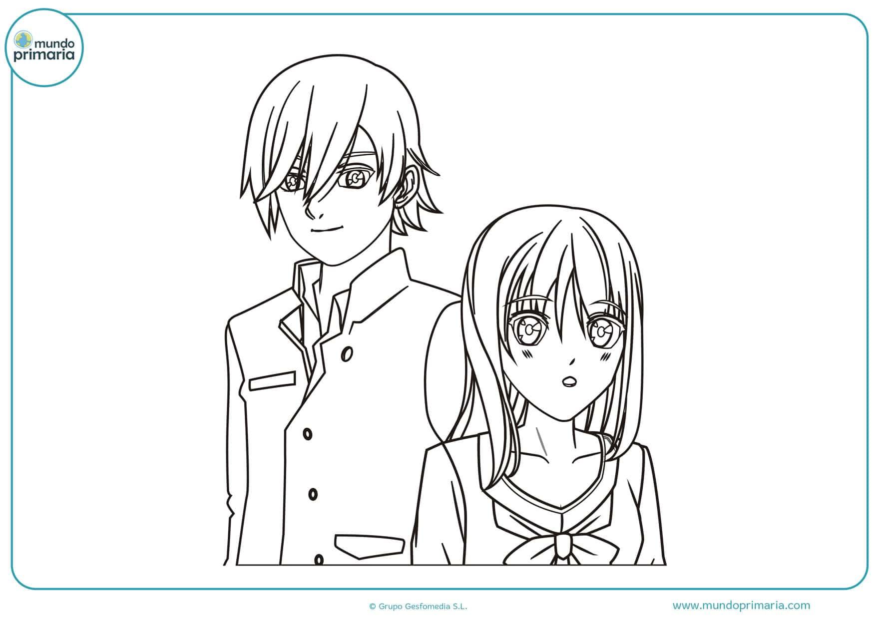 dibujos animados de manga
