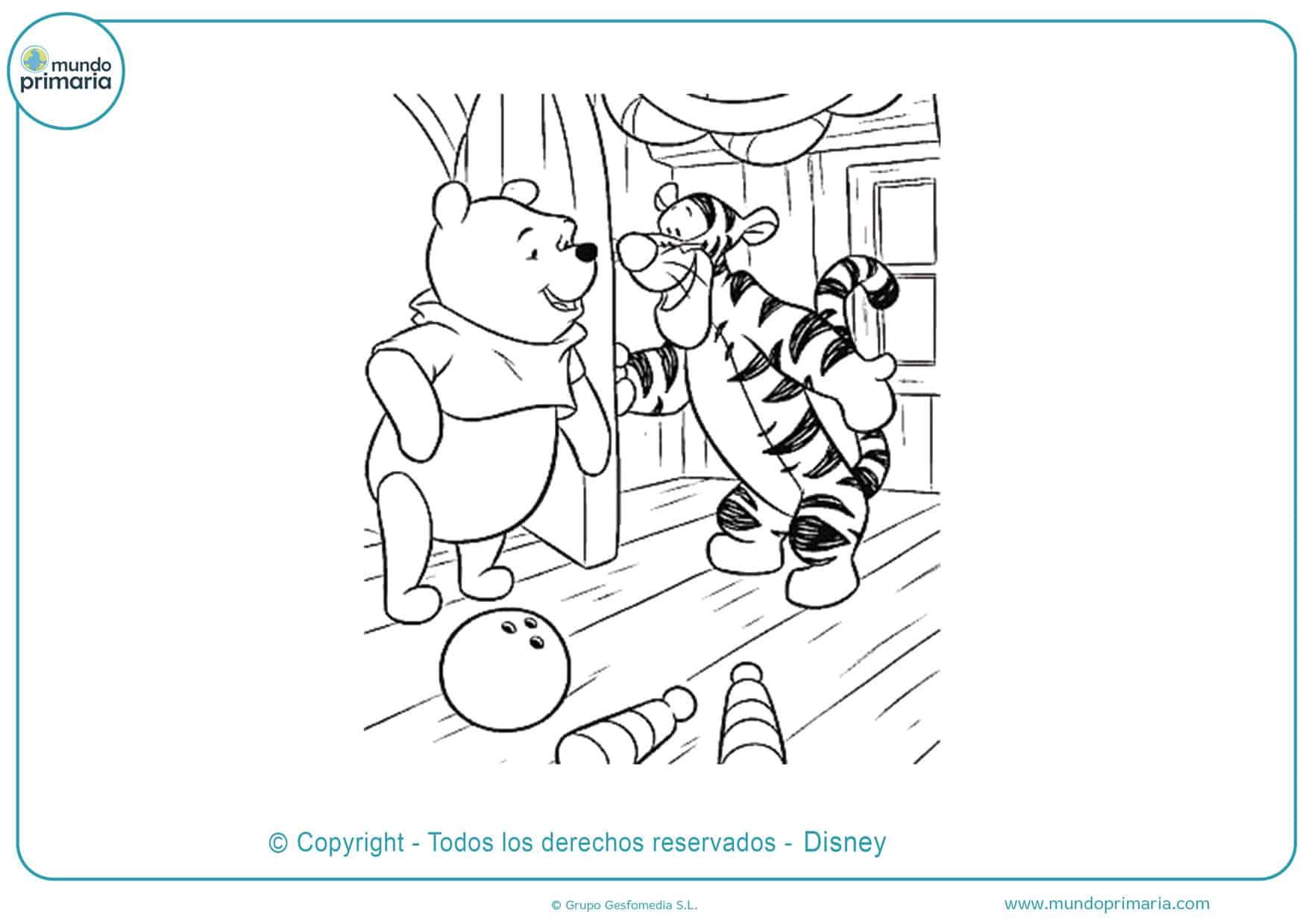 dibujos animados de winnie pooh para colorear