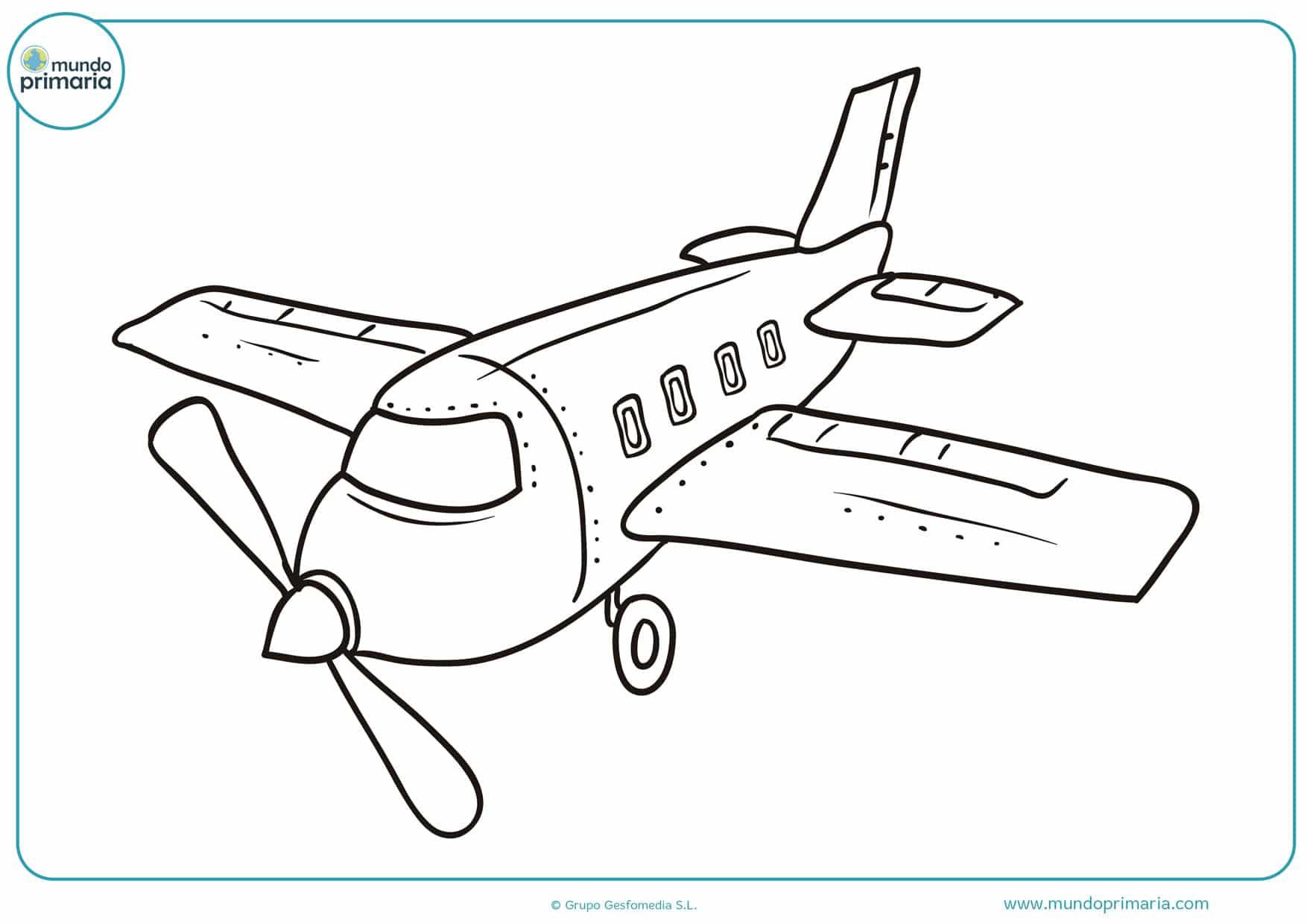 dibujos de aviones para colorear para niños
