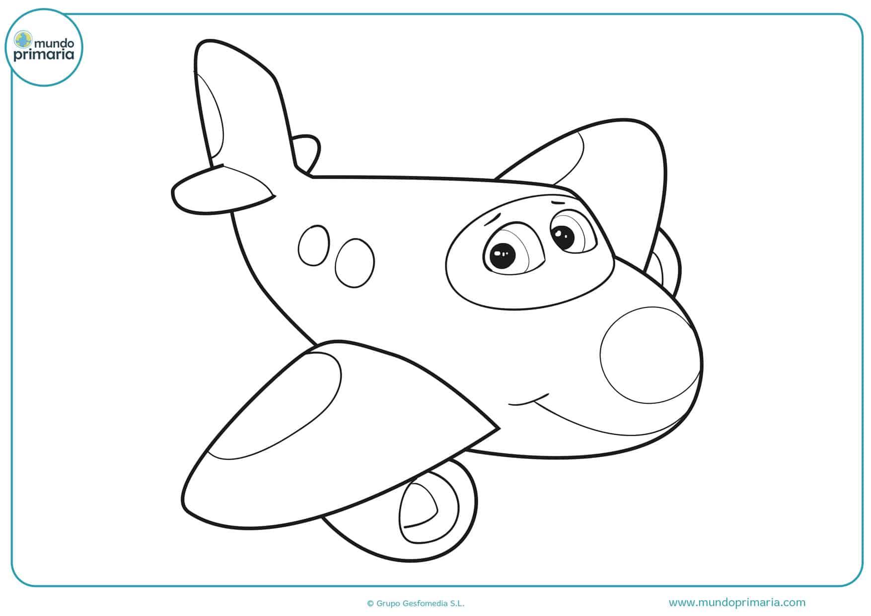 dibujos de aviones de disney para colorear e imprimir