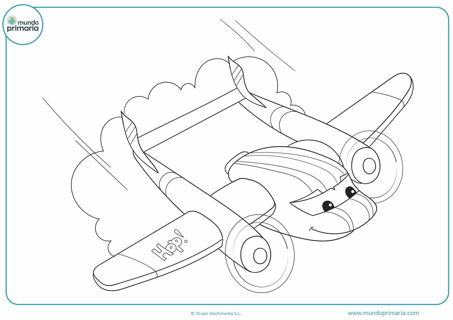 dibujos de aviones disney para colorear