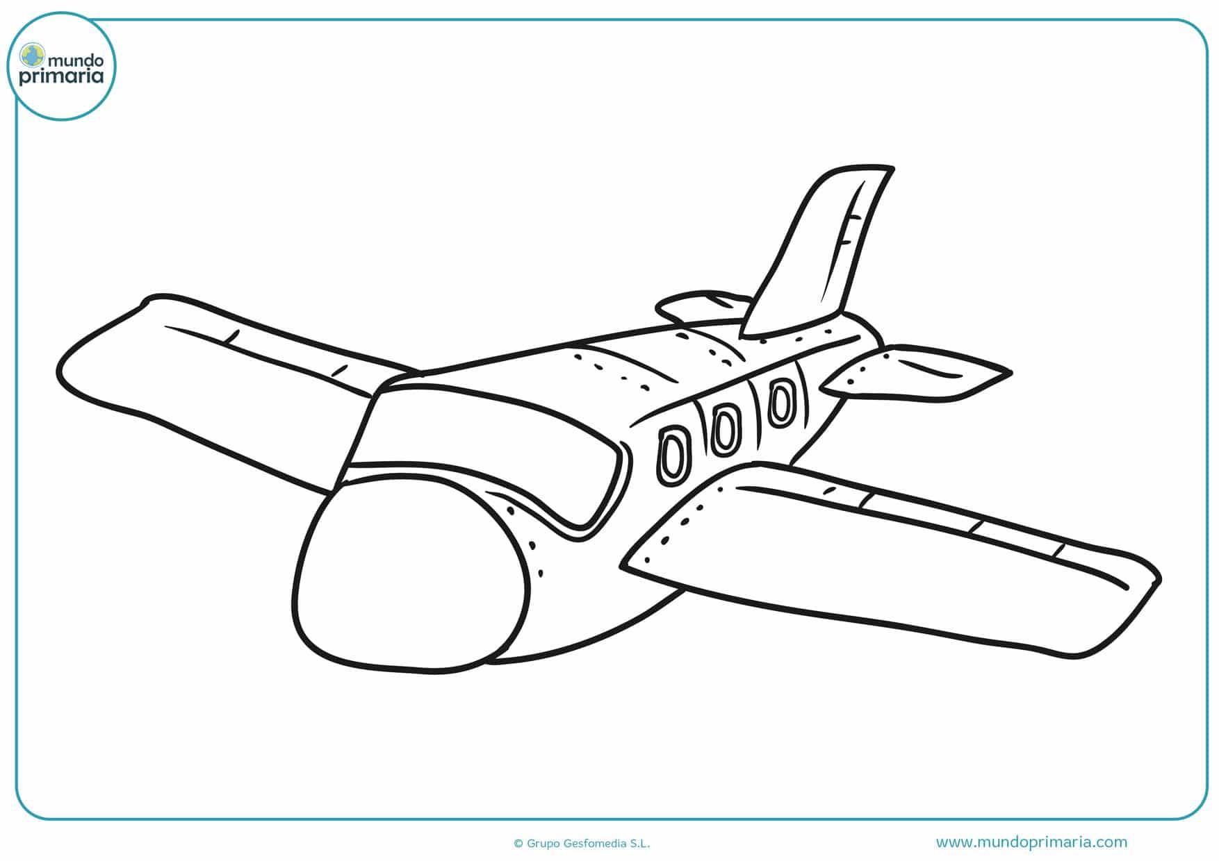 dibujos de aviones de guerra para colorear
