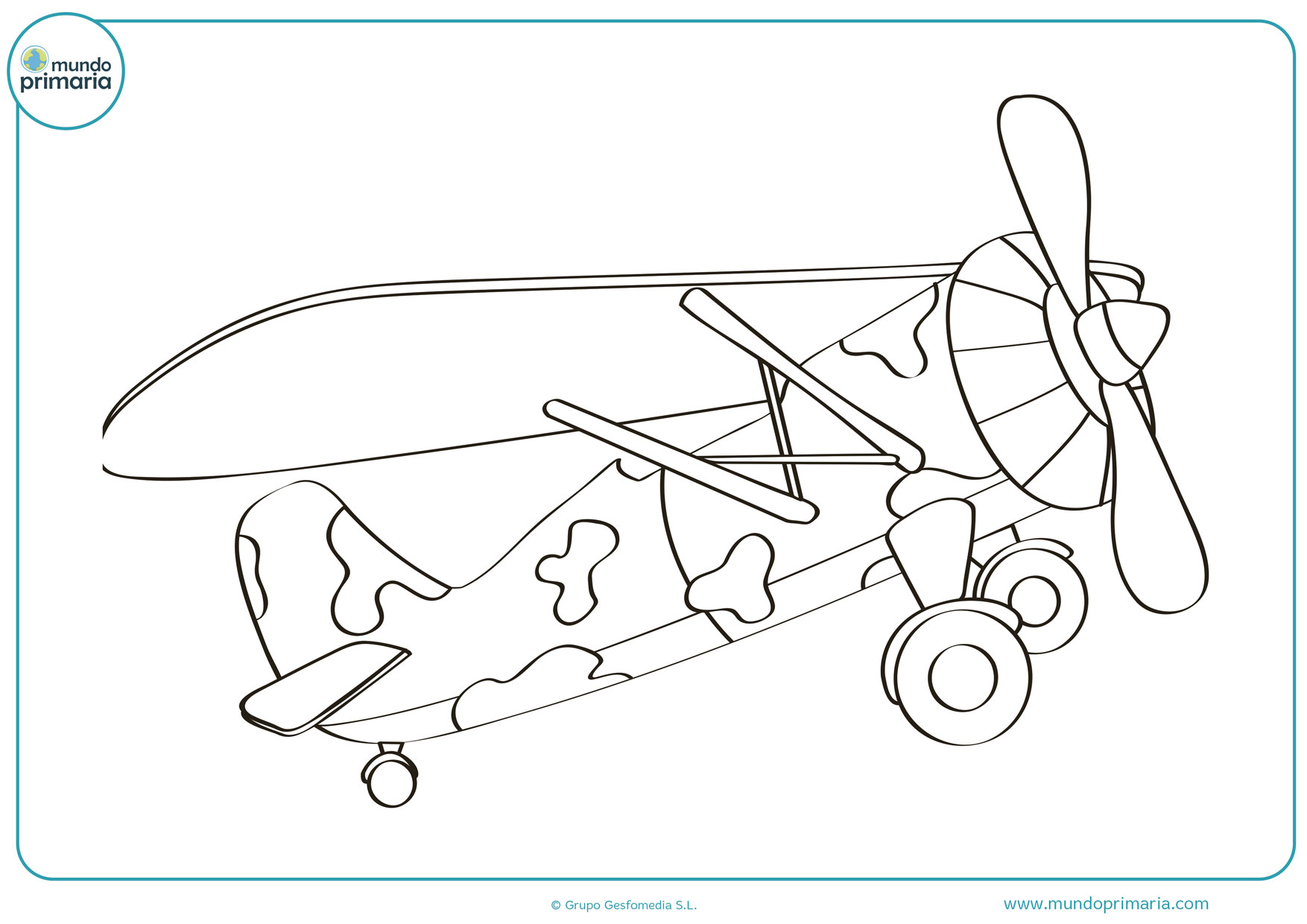 dibujos de aviones militares para pintar