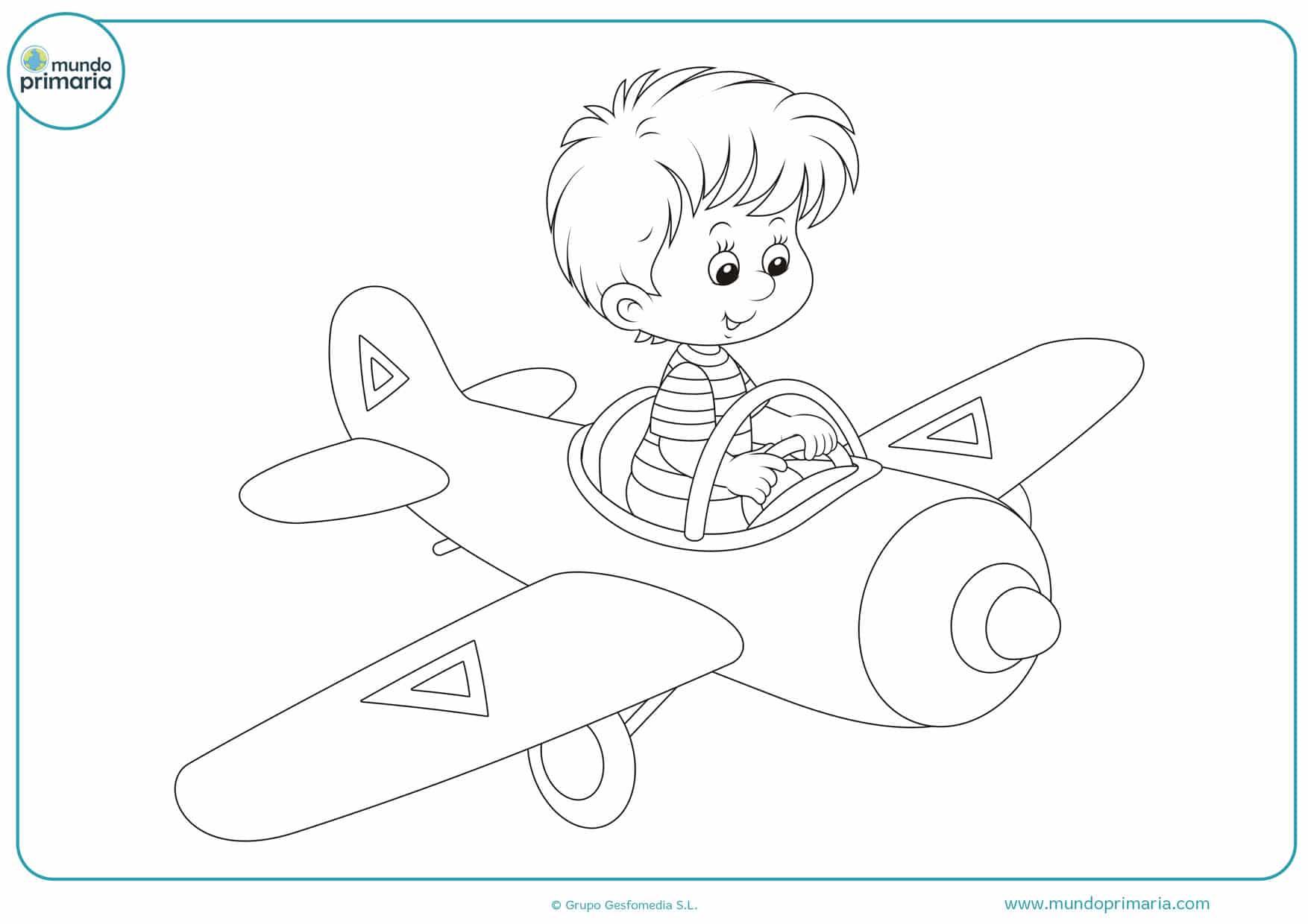 dibujos de aviones para colorear e imprimir
