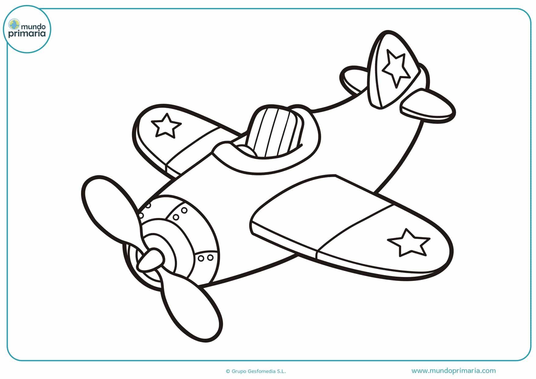 dibujos de aviones para niños para colorear
