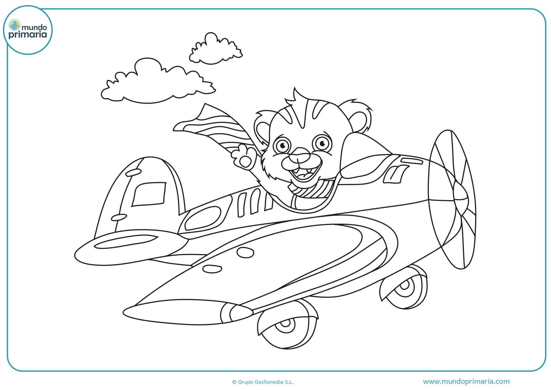 dibujos de avionetas divertidos para pintar