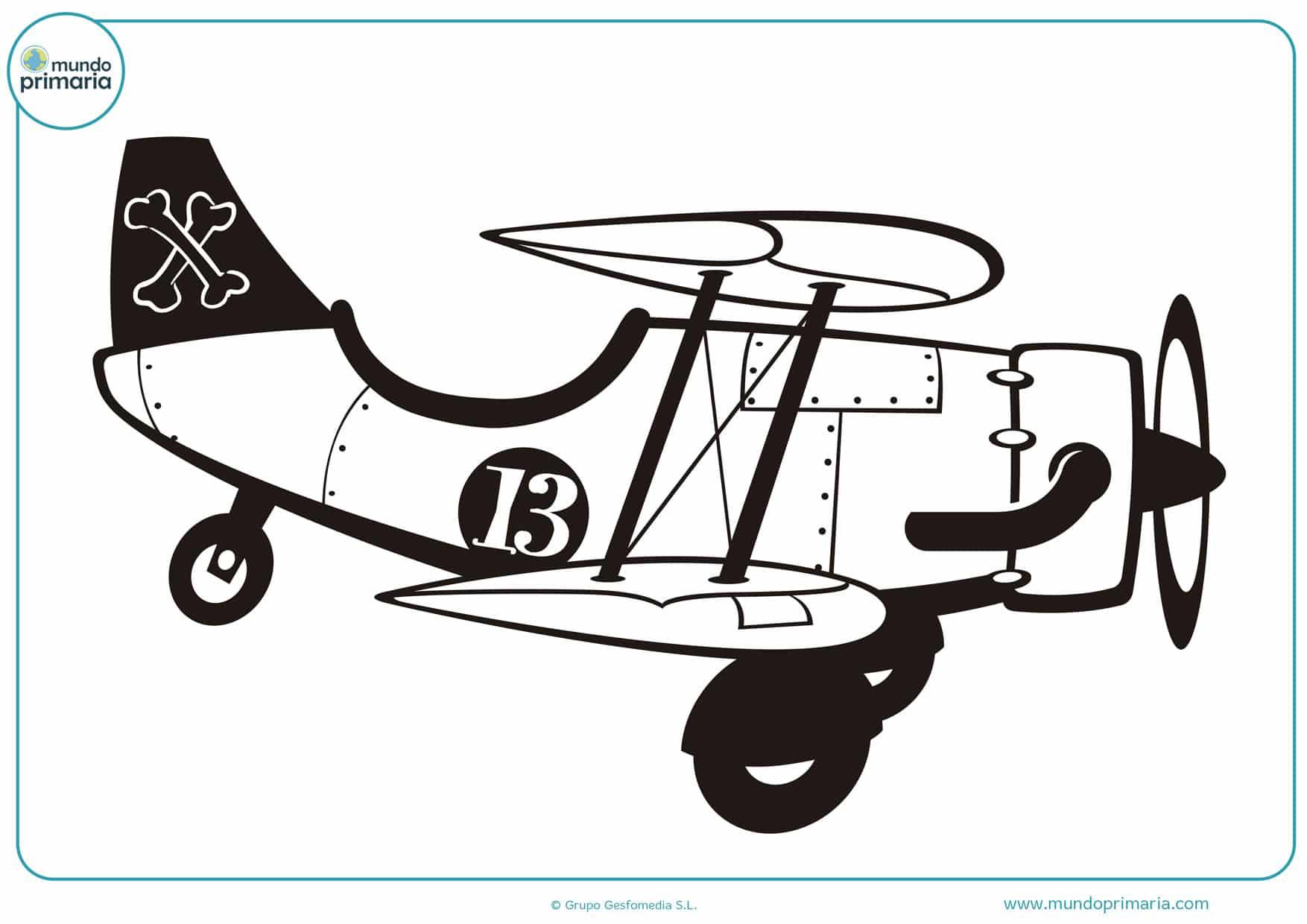 dibujos avionetas de guerra para colorear