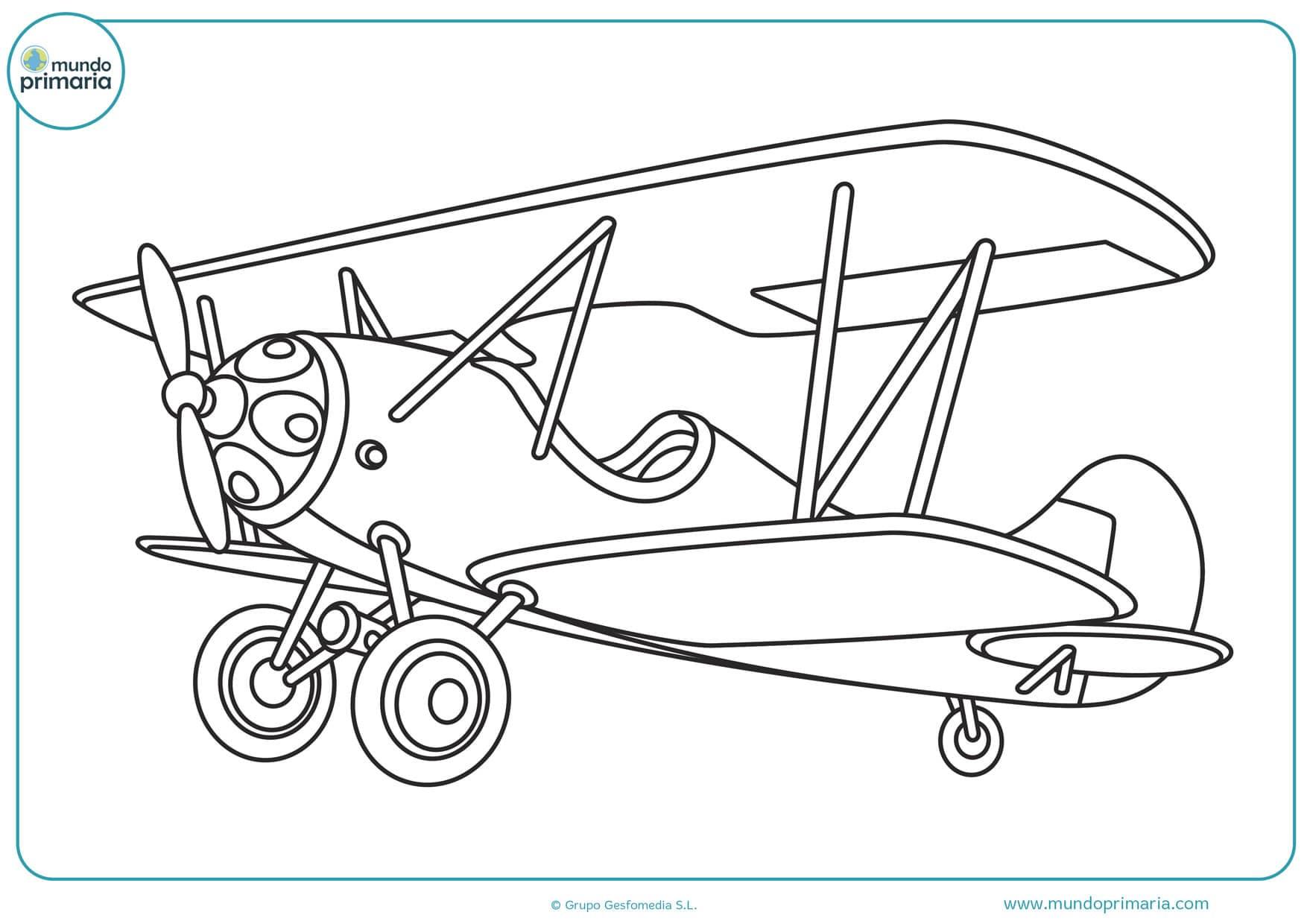 dibujos de avionetas para colorear