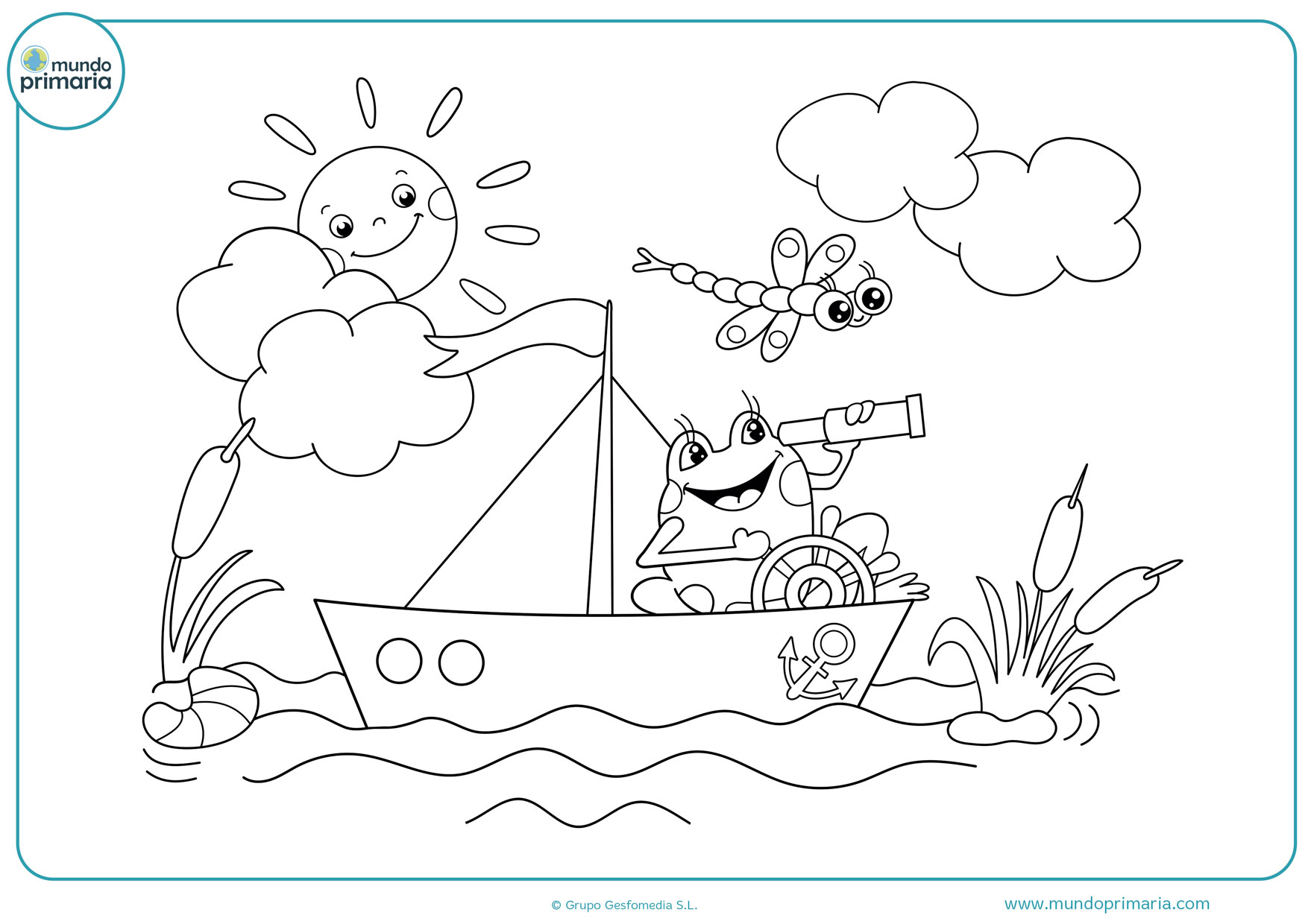 dibujos de barcos infantiles para colorear