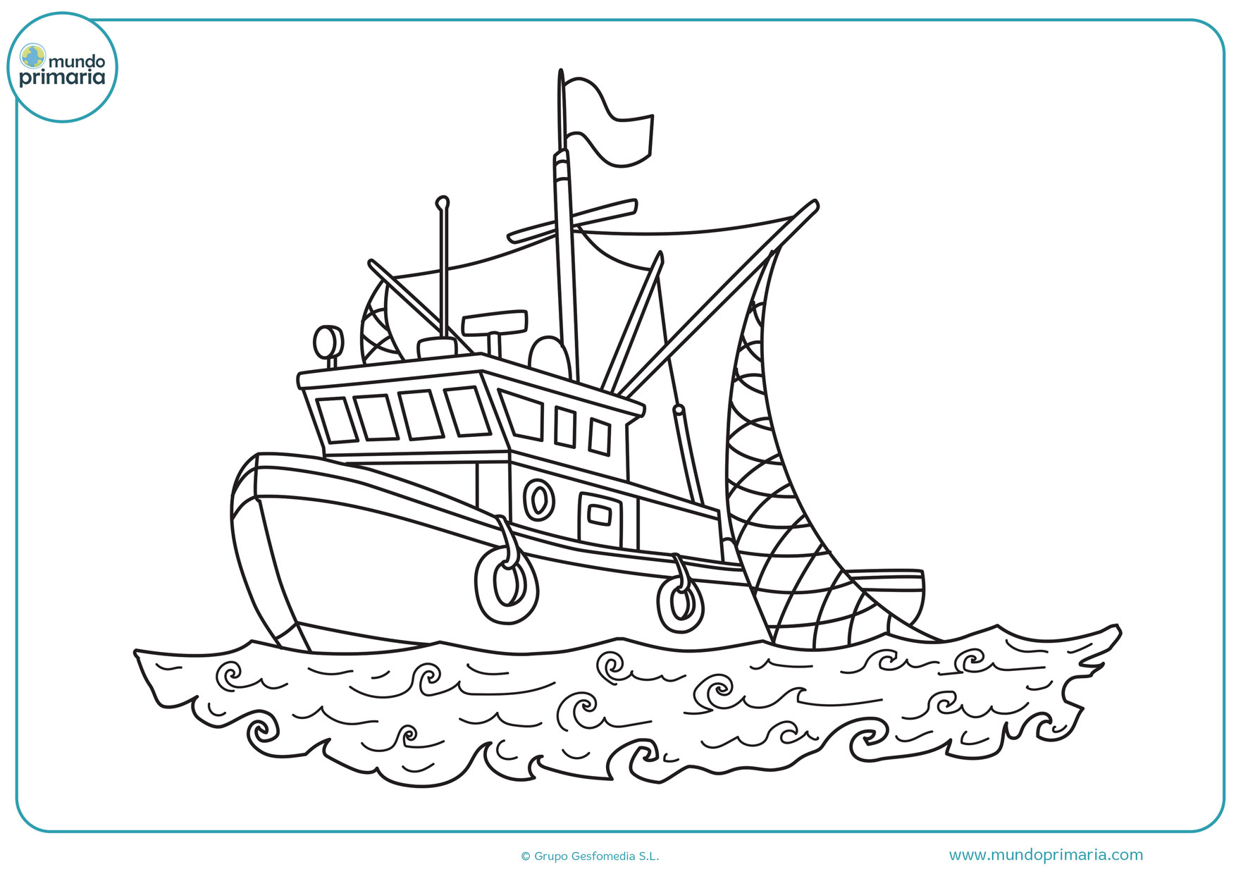 dibujos de barcos en el mar para colorear