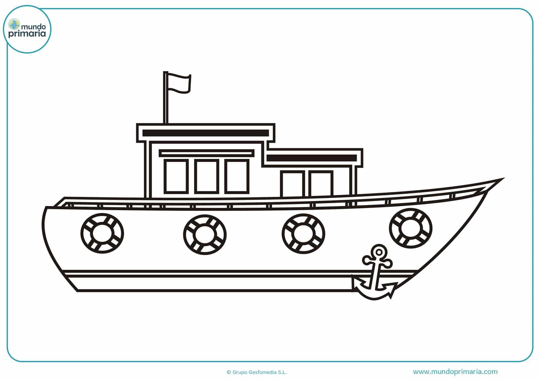 Dibujos De Barcos Para Colorear