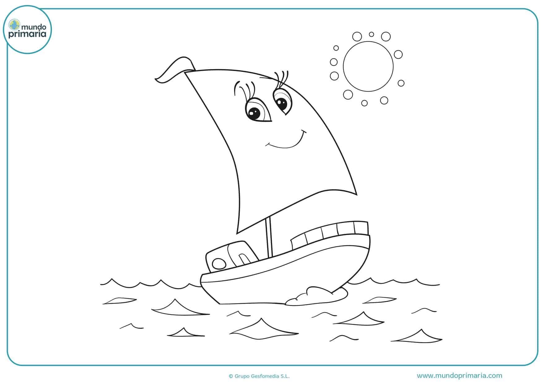 dibujos de barcos para colorear e imprimir