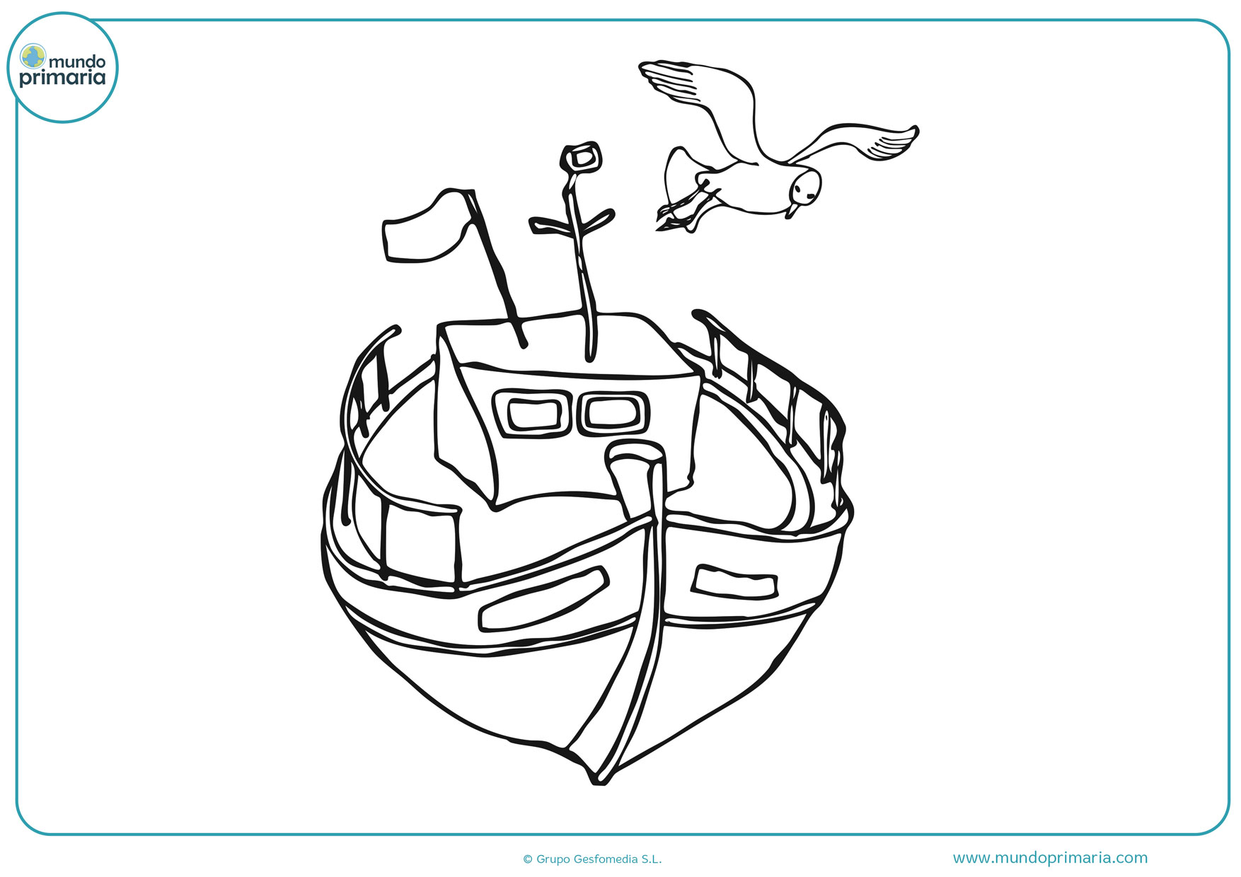 dibujos de barcos pesqueros para colorear