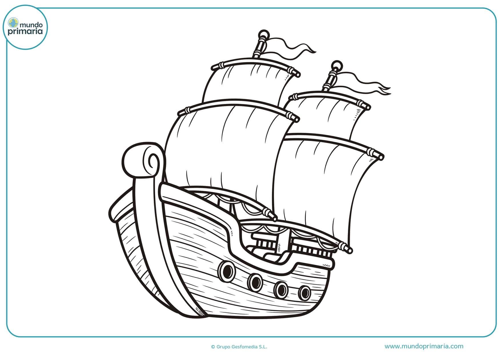 dibujos de barcos piratas para colorear e imprimir