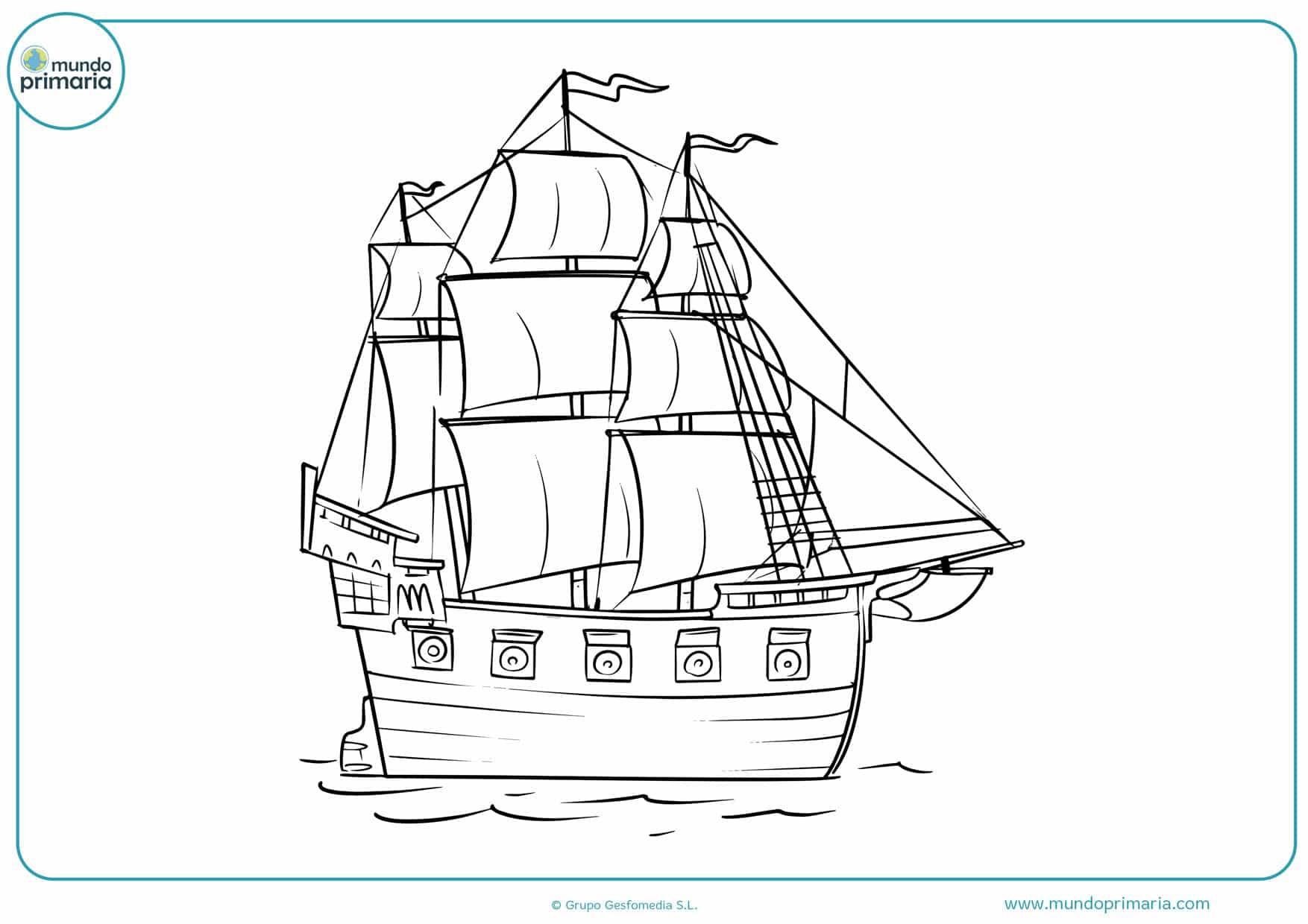 dibujos de barcos de vela para colorear