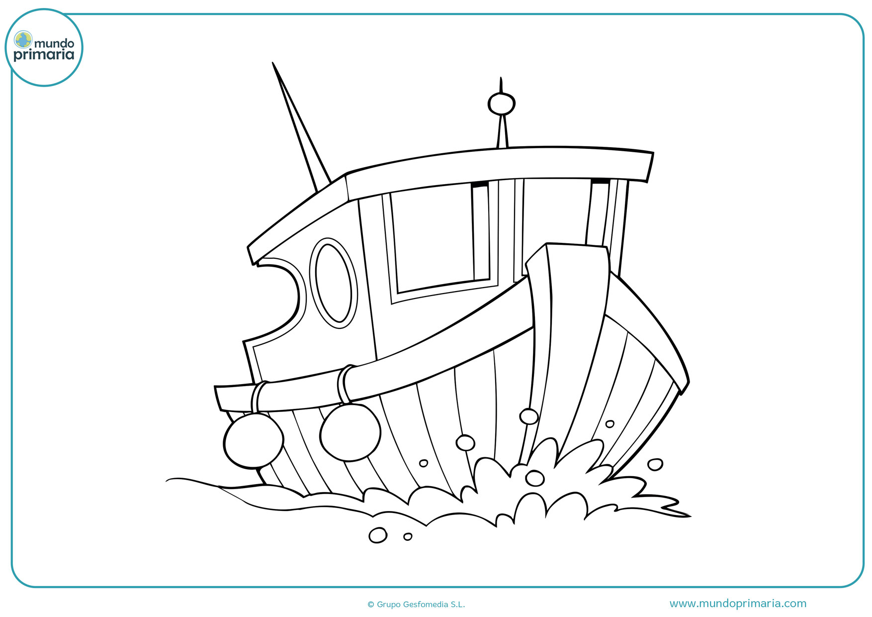 dibujos de barcos vikingos para colorear