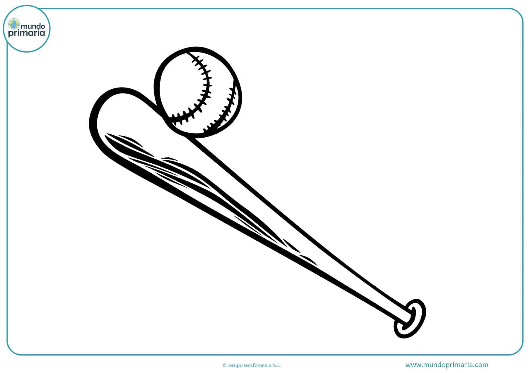 dibujos de bates de béisbol para colorear