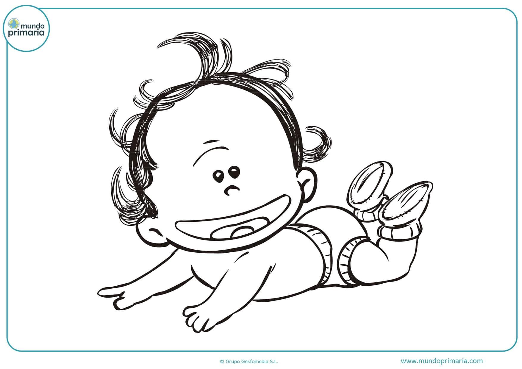 dibujos de bebes jugando para colorear
