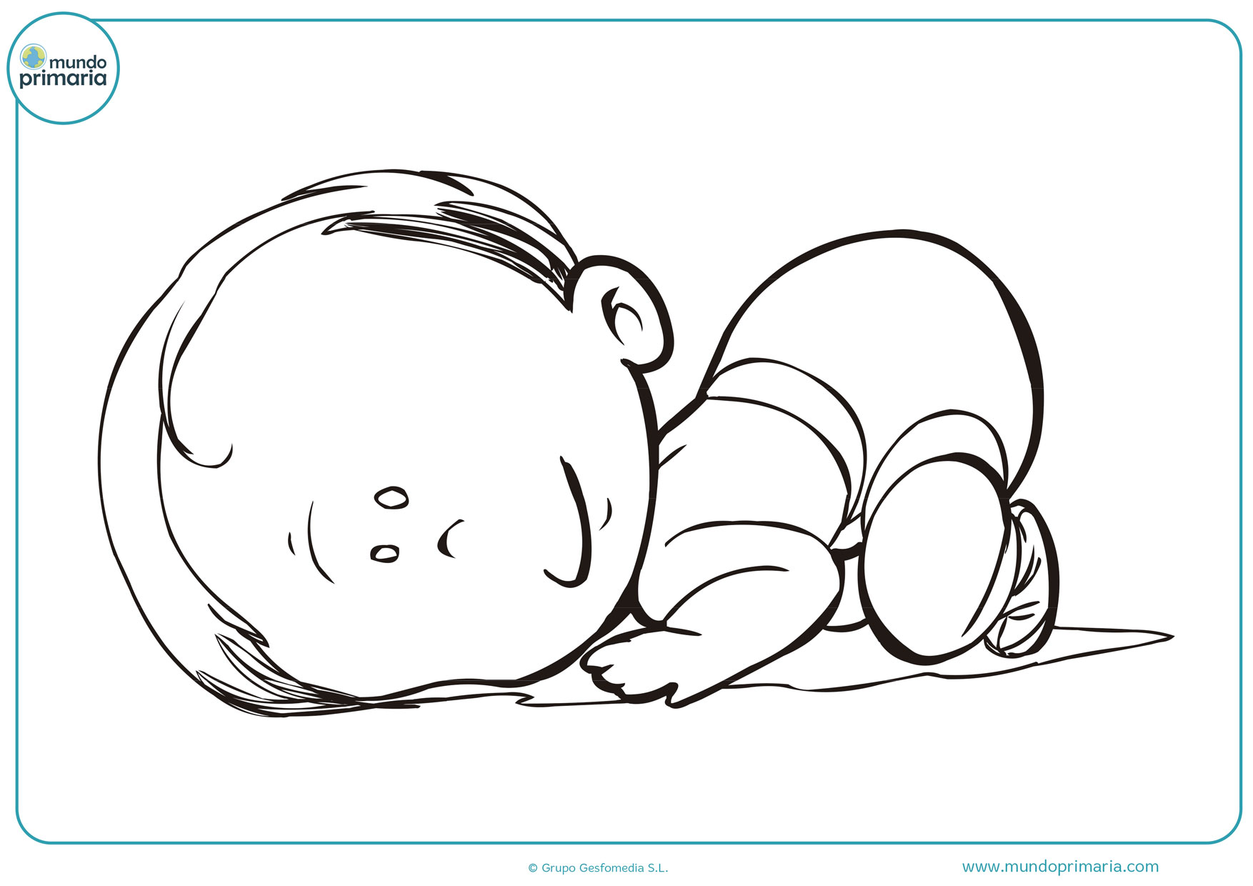 dibujos de bebes para colorear e imprimir