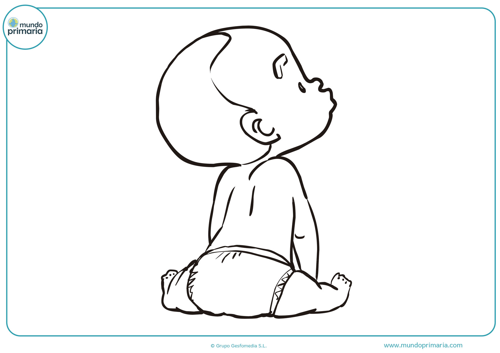 dibujos de bebes para colorear