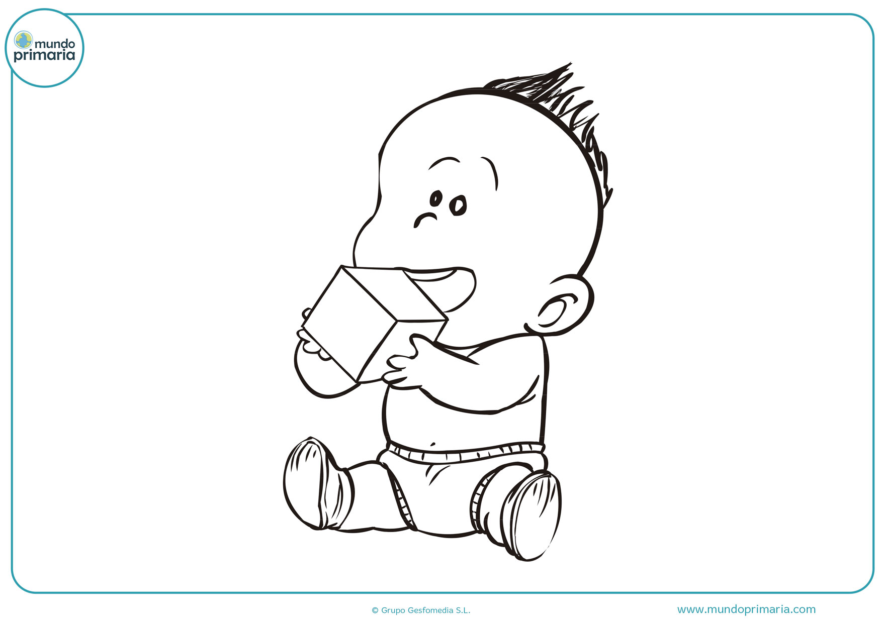 dibujos de bebes recién nacidos para colorear