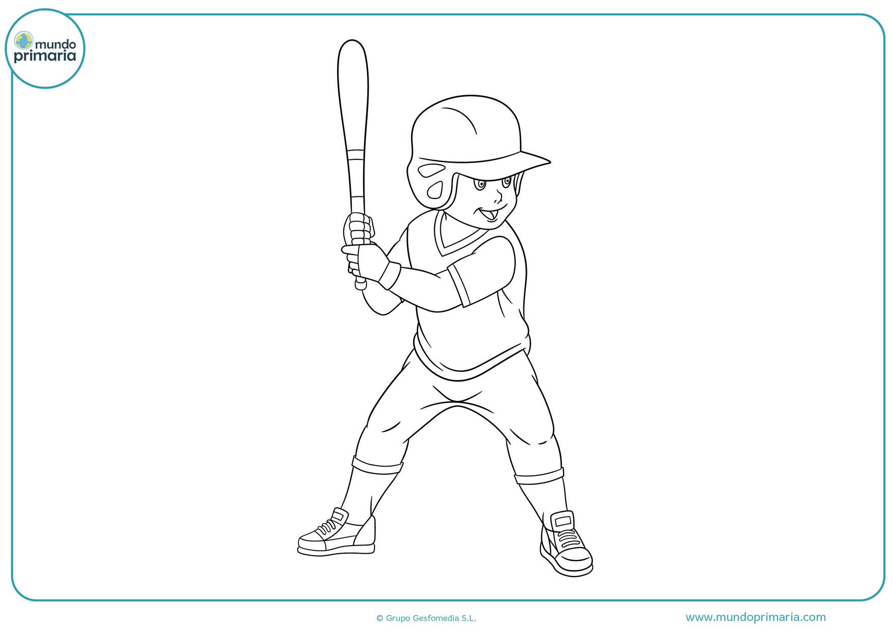 dibujos de béisbol fáciles para colorear