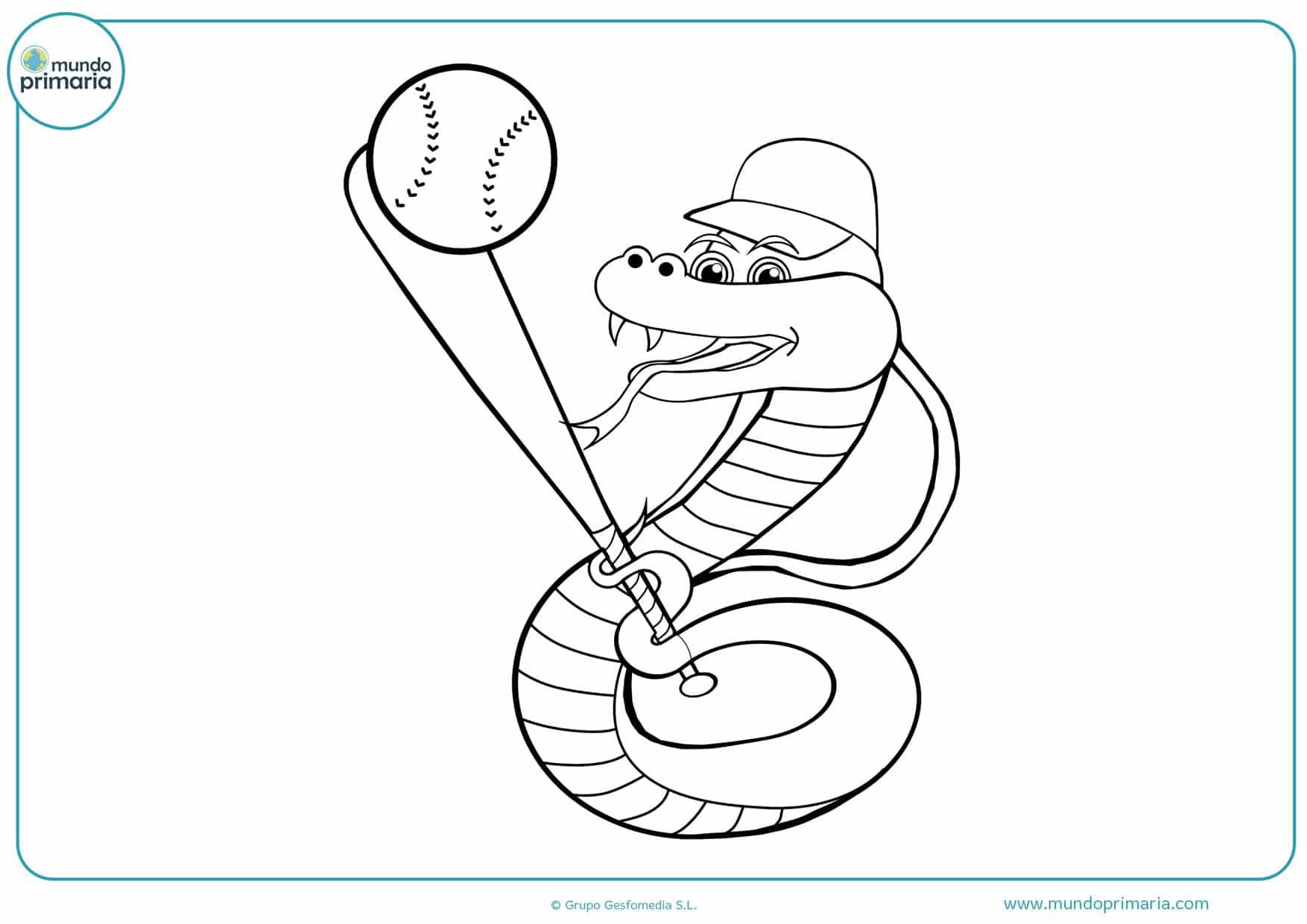 dibujos de béisbol grandes ligas para colorear