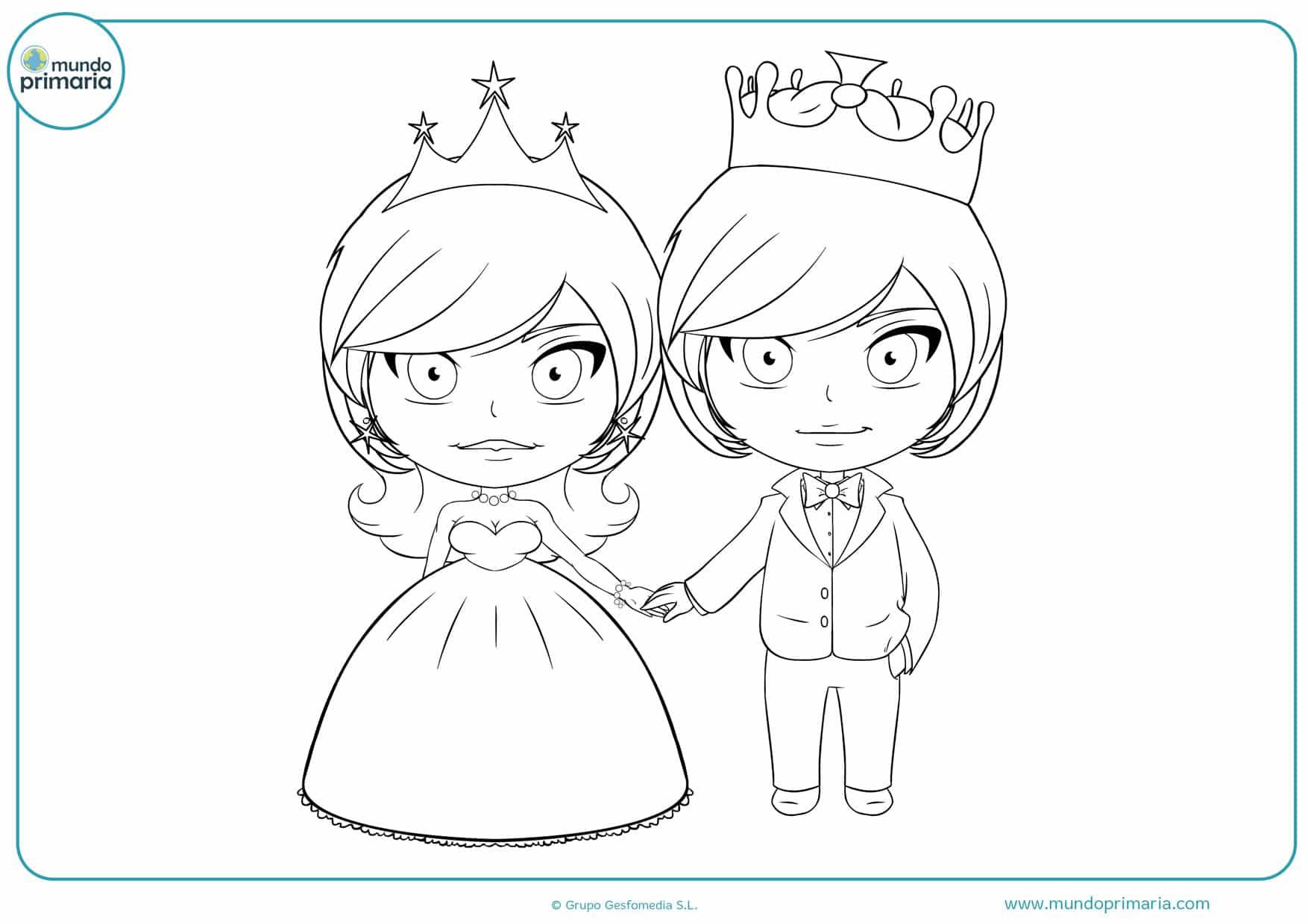 dibujos de boda de reyes para pintar