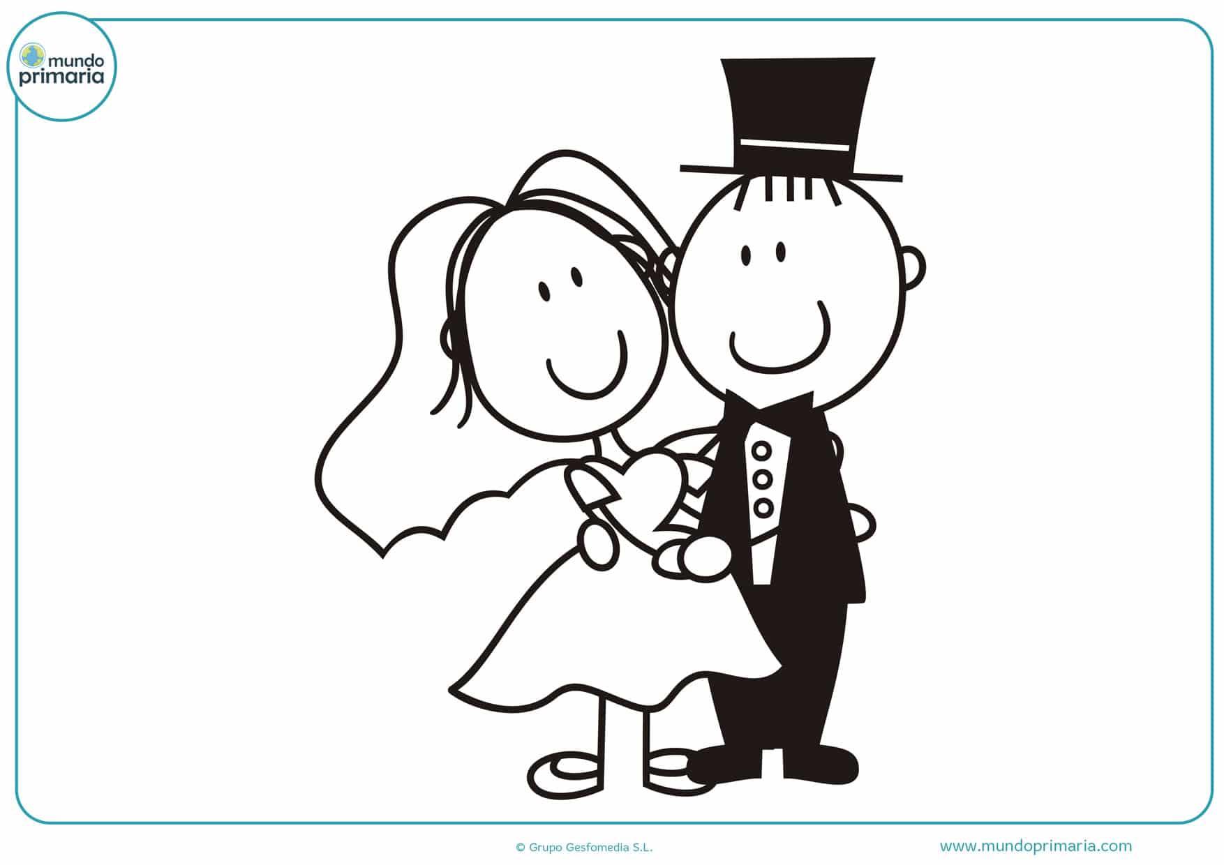 dibujos de bodas para colorear