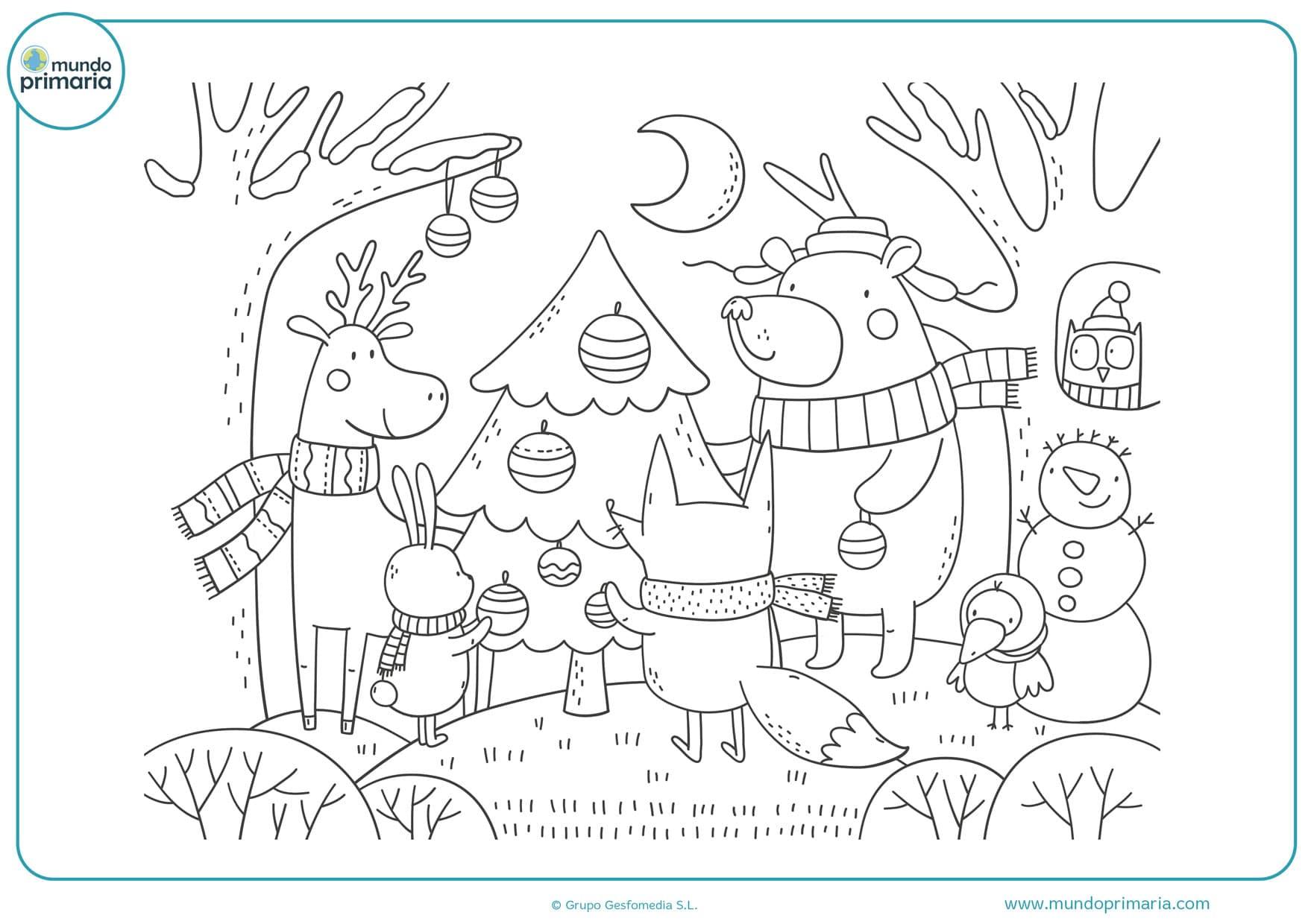 dibujos bolas de navidad para colorear
