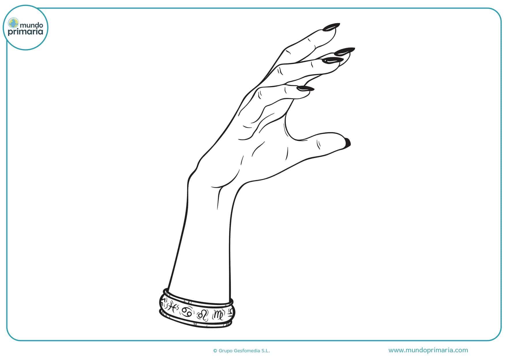 dibujos de brazos y manos para colorear