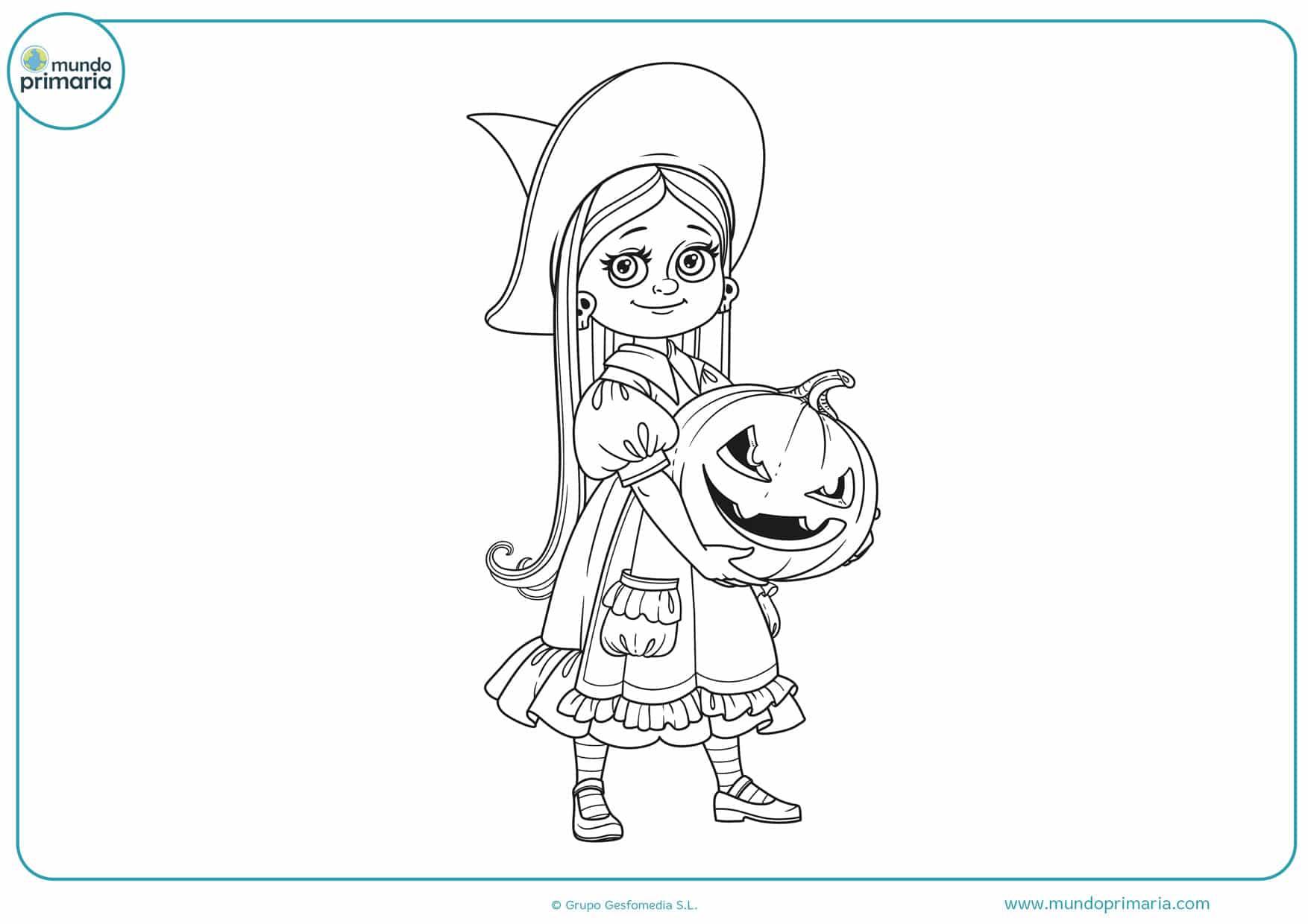 dibujos de brujas bonitas para colorear