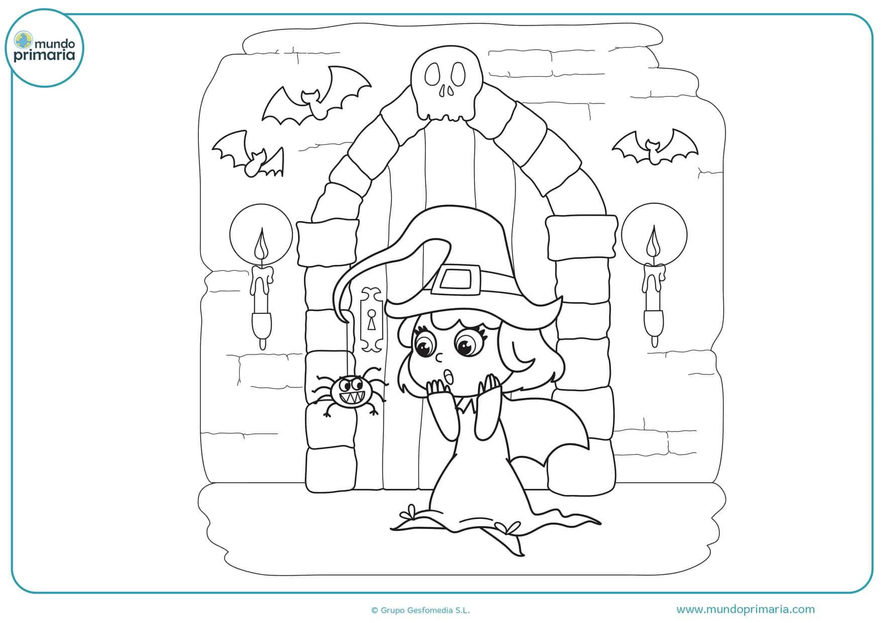 dibujos de brujas buenas para colorear