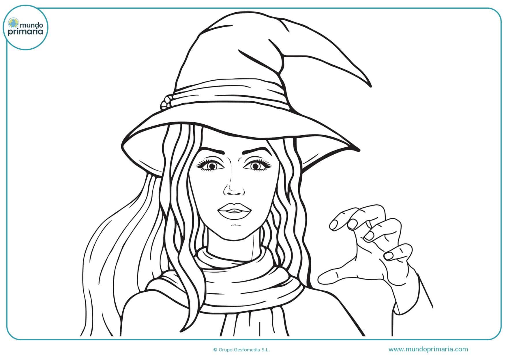 dibujos de brujas infantiles para colorear