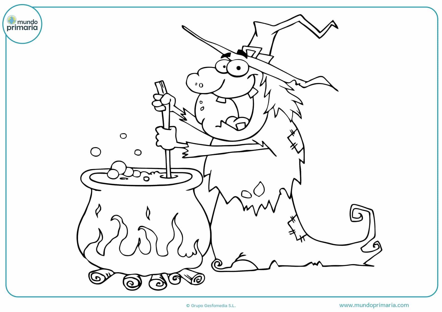 dibujos de brujas y magos para colorear