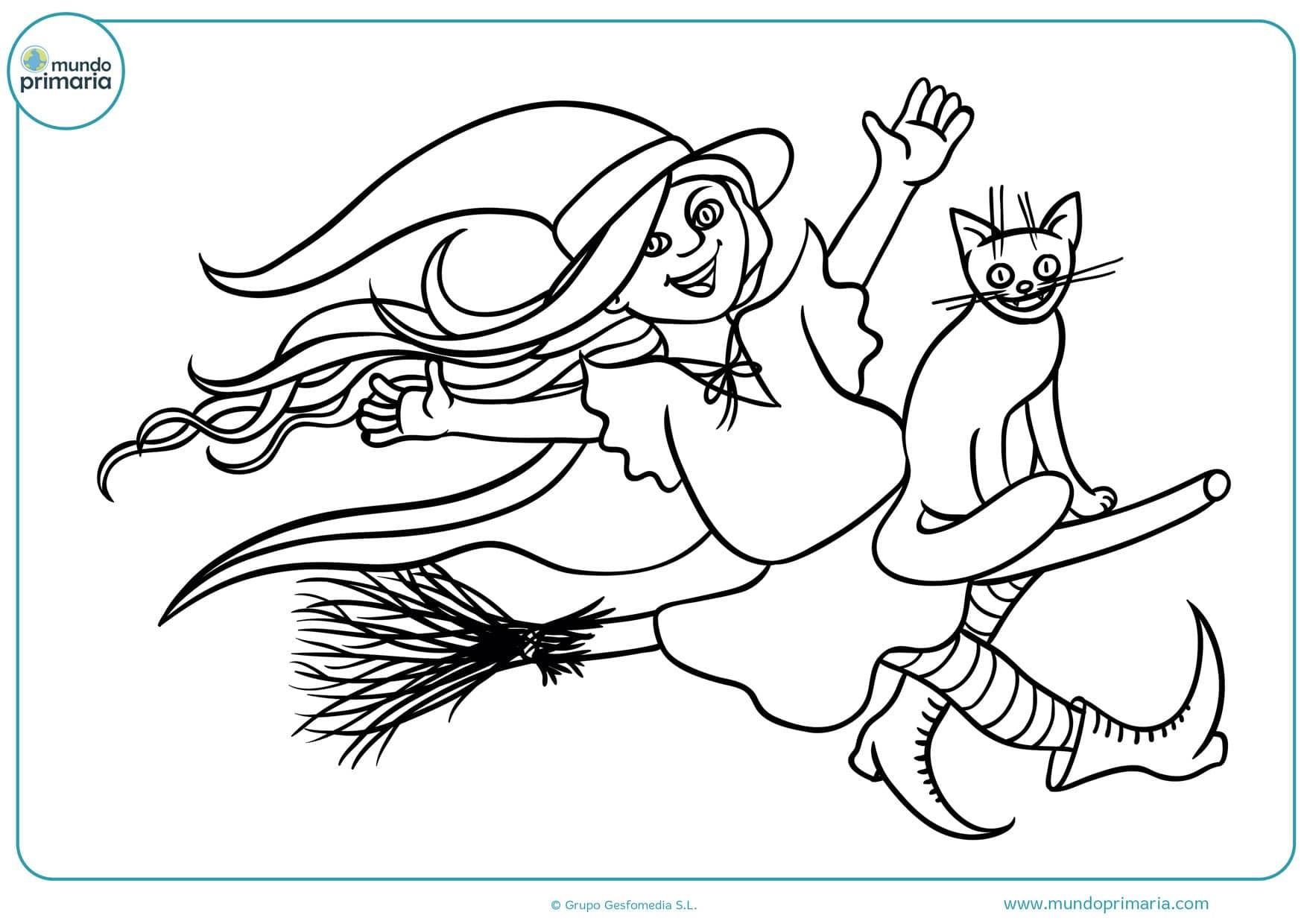 dibujos de brujas malas para colorear