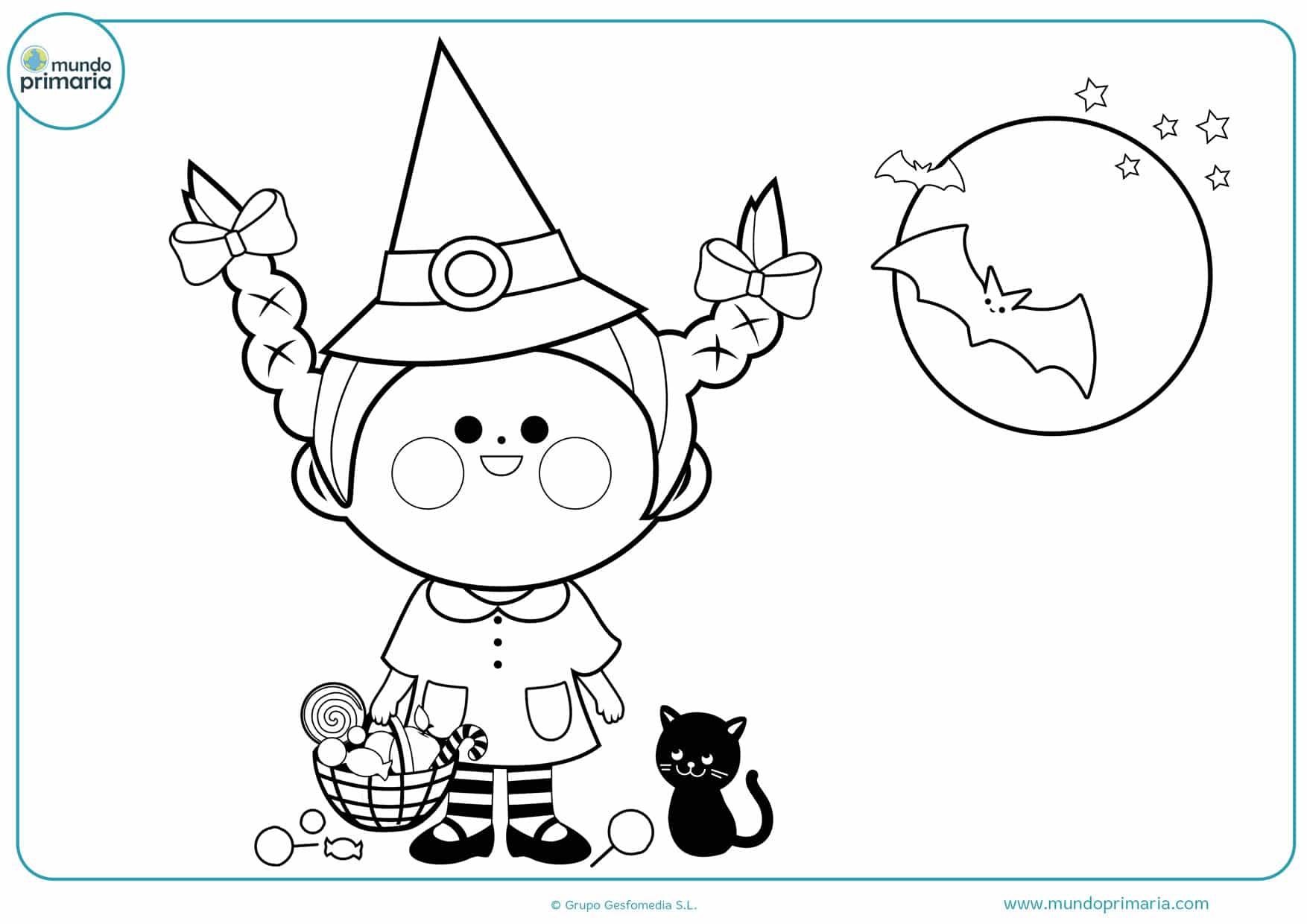 dibujos de brujas para colorear e imprimir