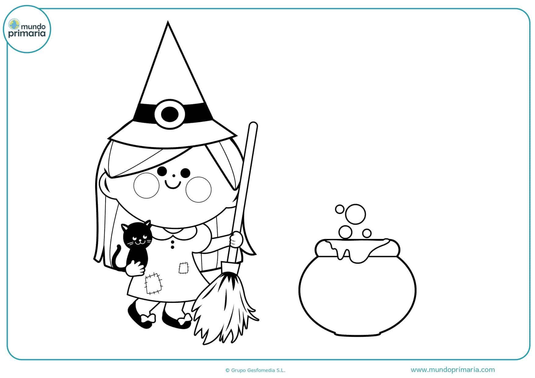 dibujos de brujas para colorear